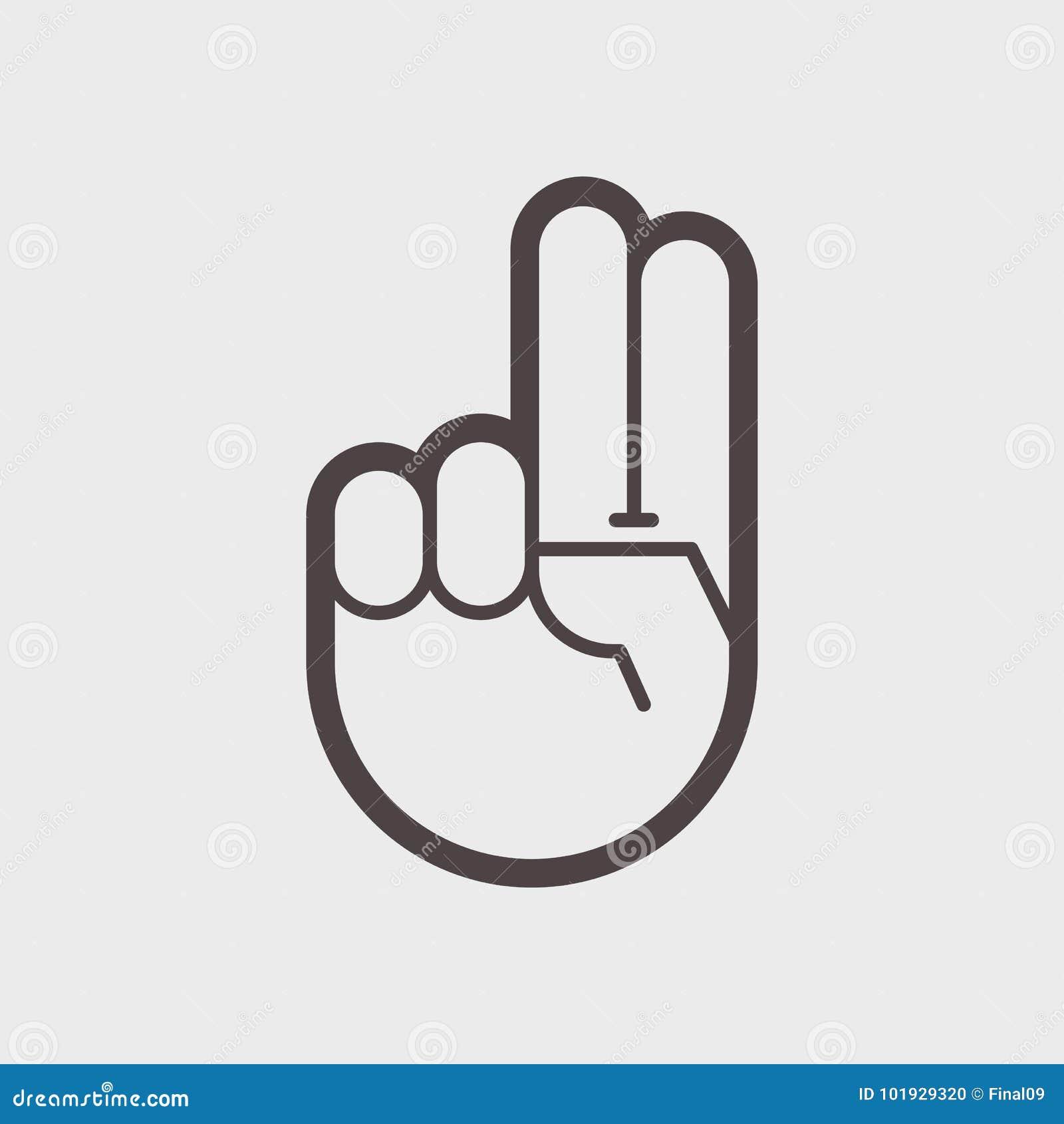 Sinal da vitória O gesto da mão