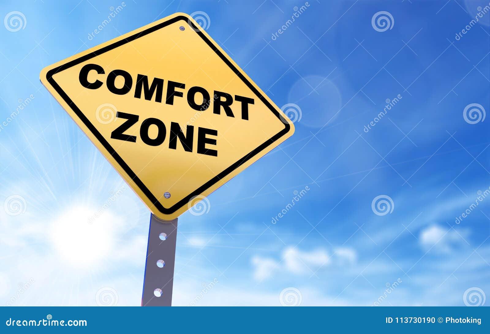 Sinal da zona de conforto