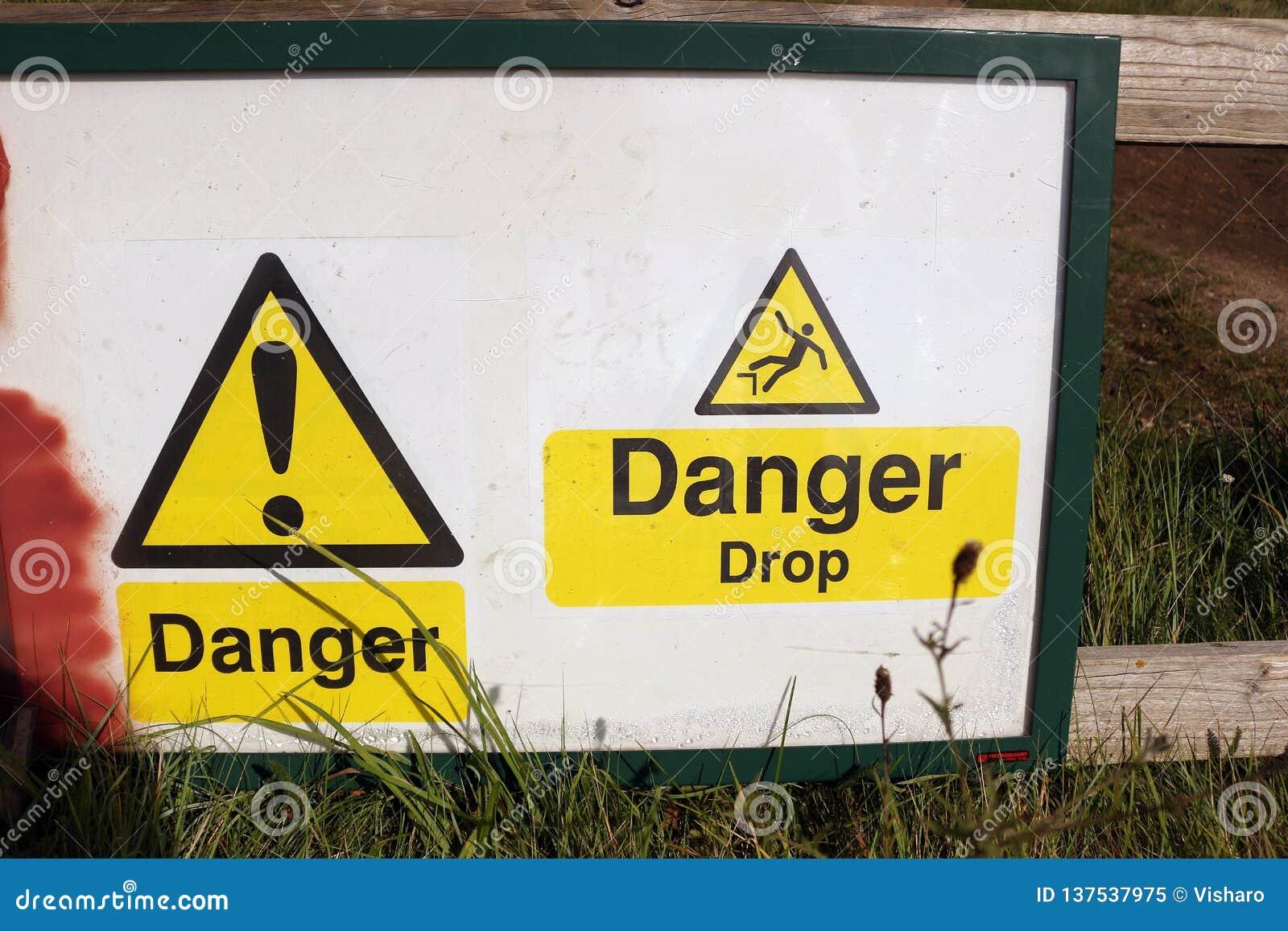 Sinal de aviso da gota do perigo