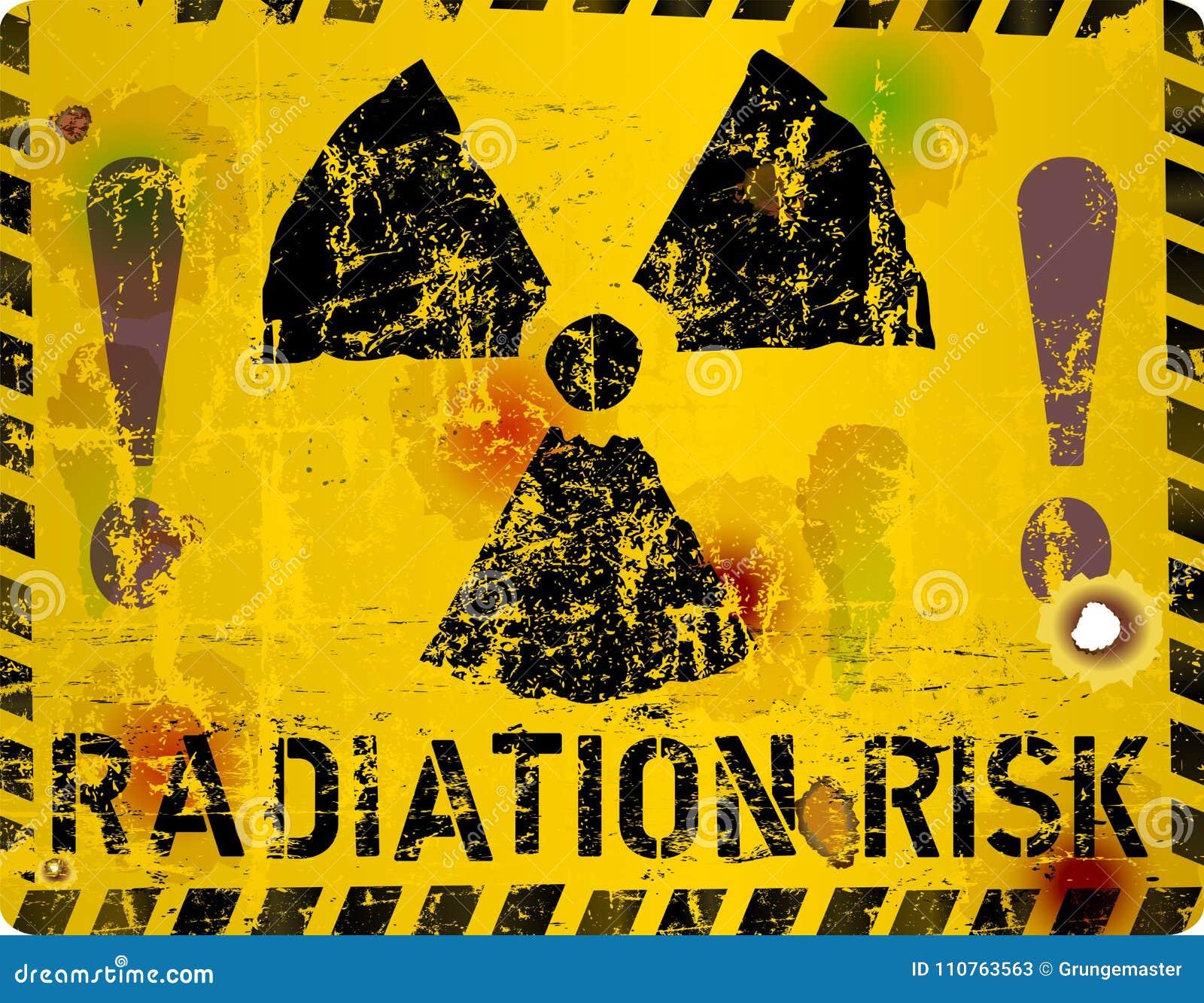 Sinal de aviso da radiação, ilustração do vetor