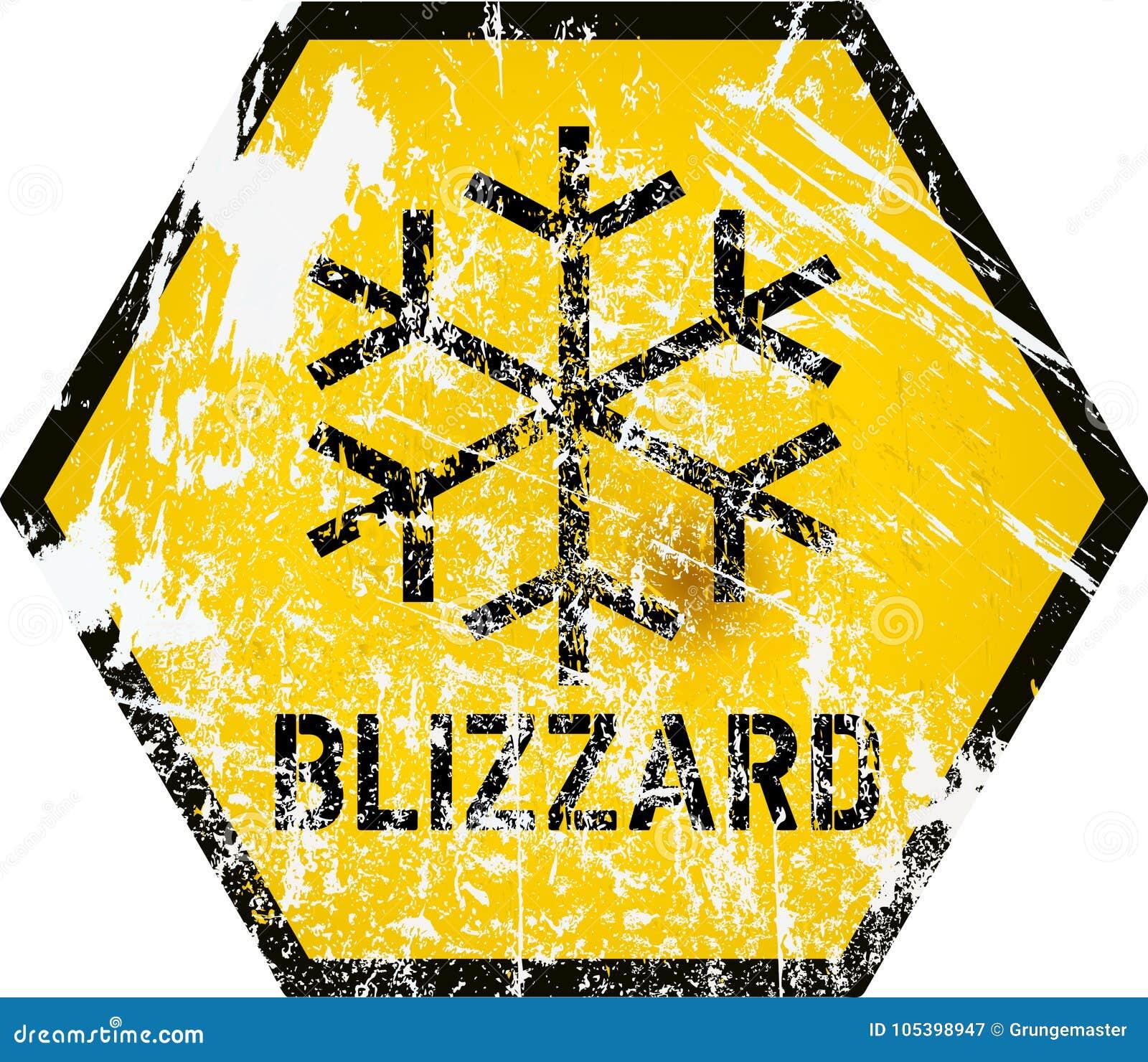Sinal de aviso do blizzard, vetor