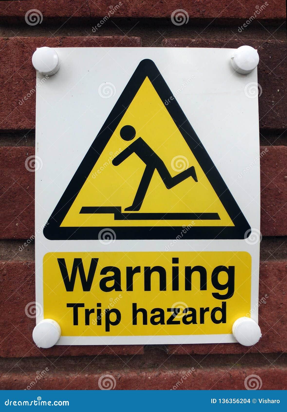 Sinal de aviso do perigo do desengate