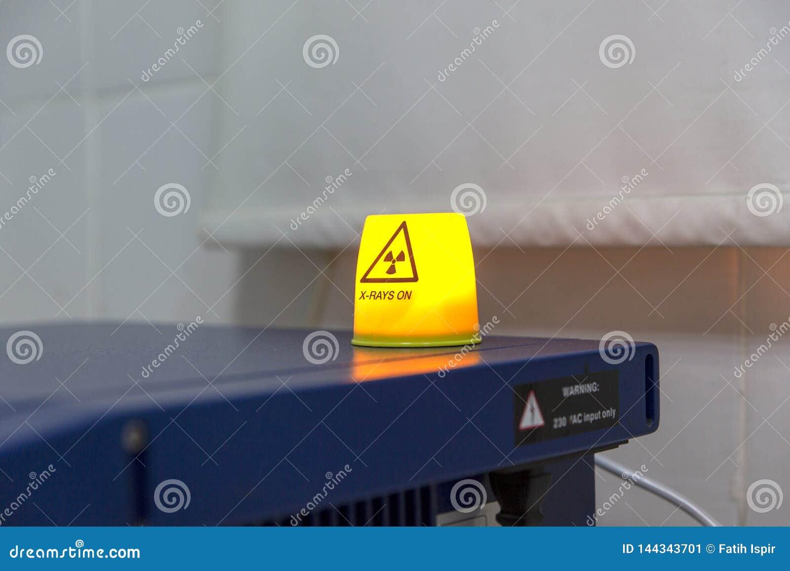 Sinal de aviso do raio X