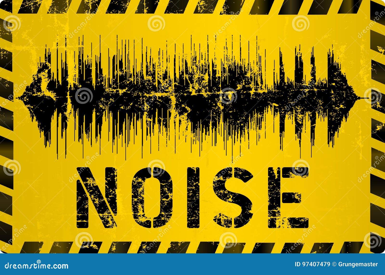Sinal de aviso do ruído,