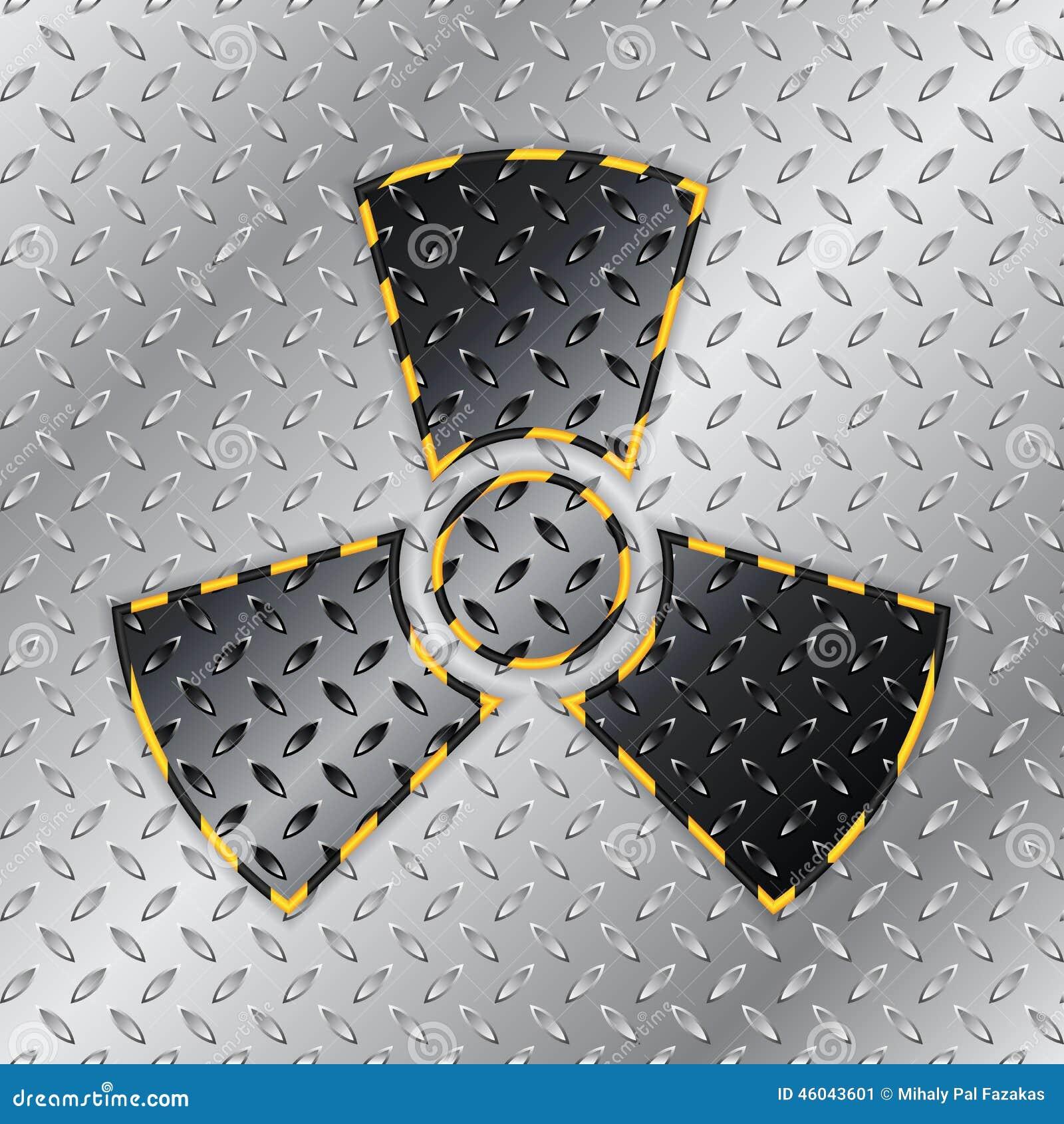 Sinal de aviso radioativo