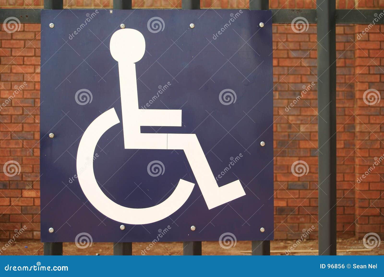 Sinal de estacionamento incapacitado
