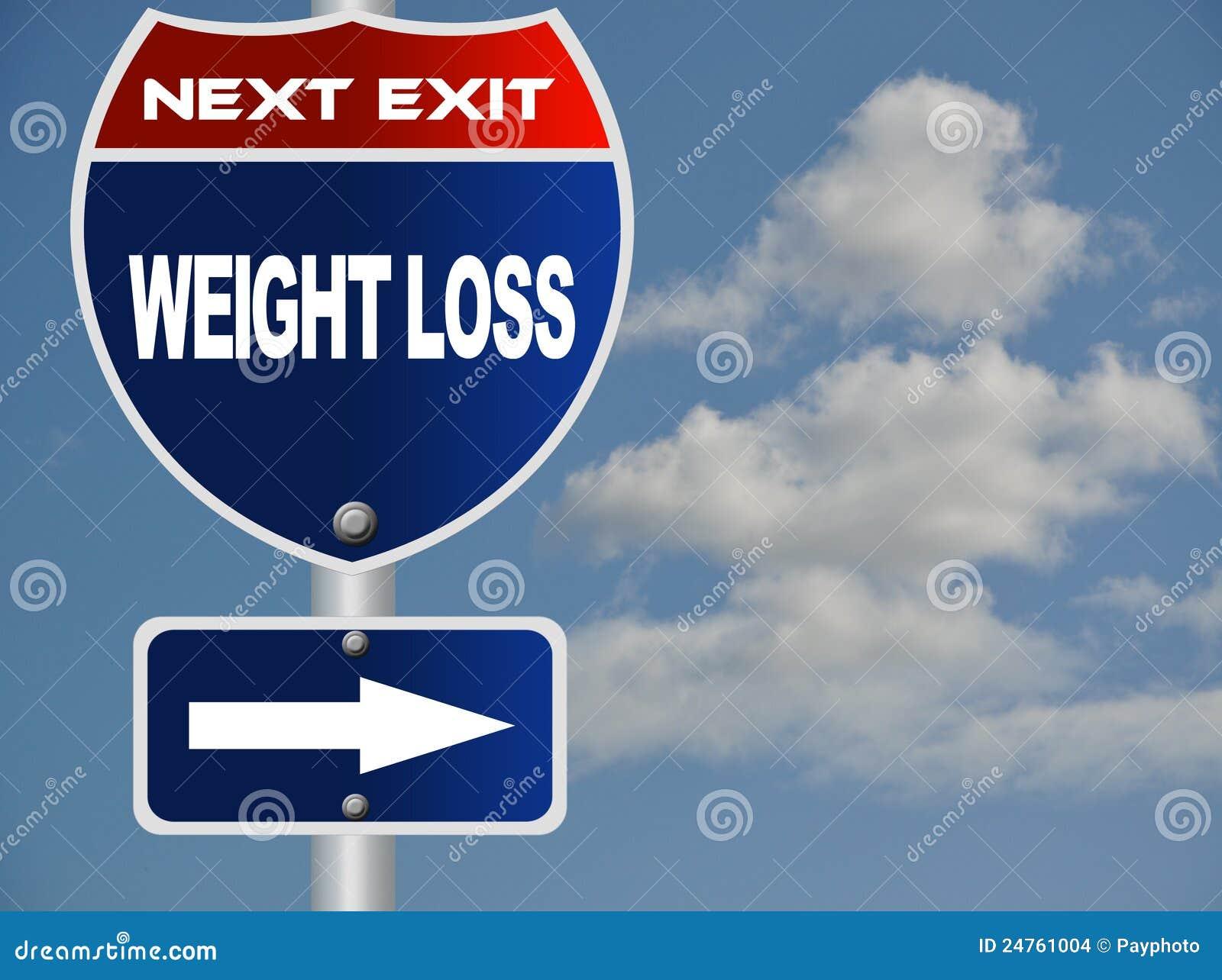 Sinal de estrada da perda de peso