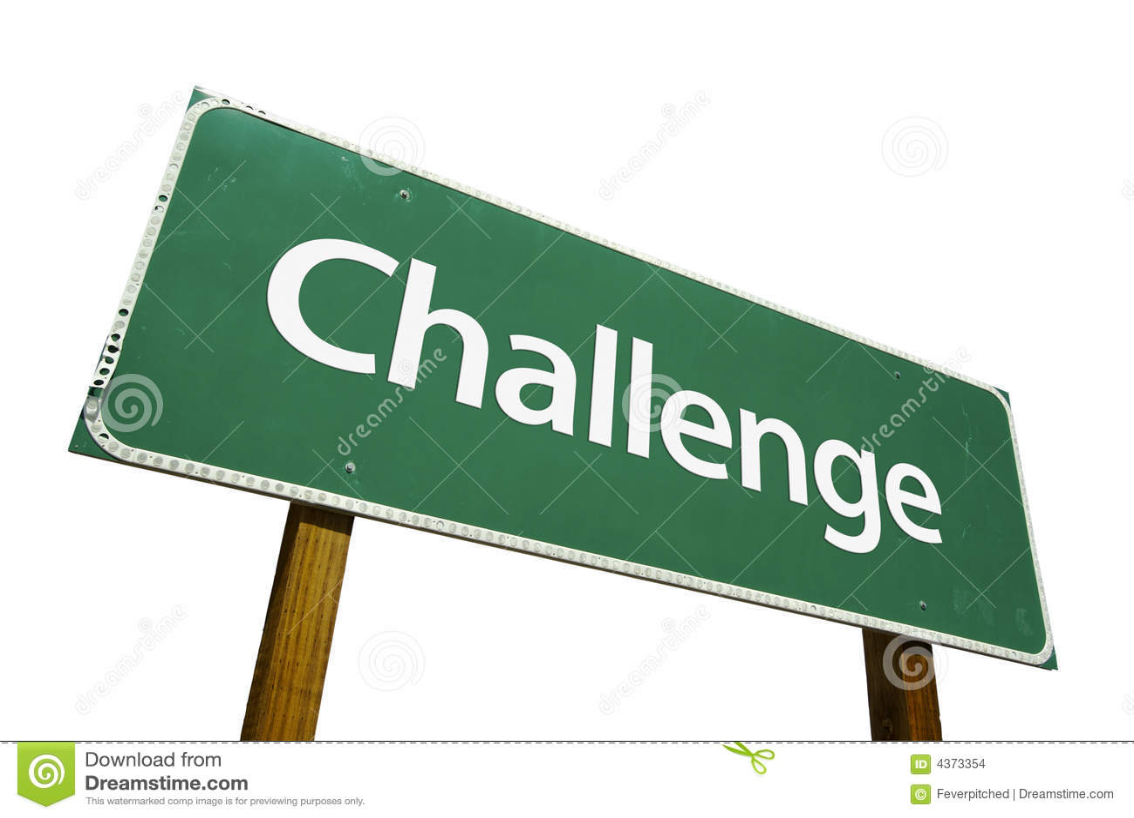 Sinal de estrada do desafio