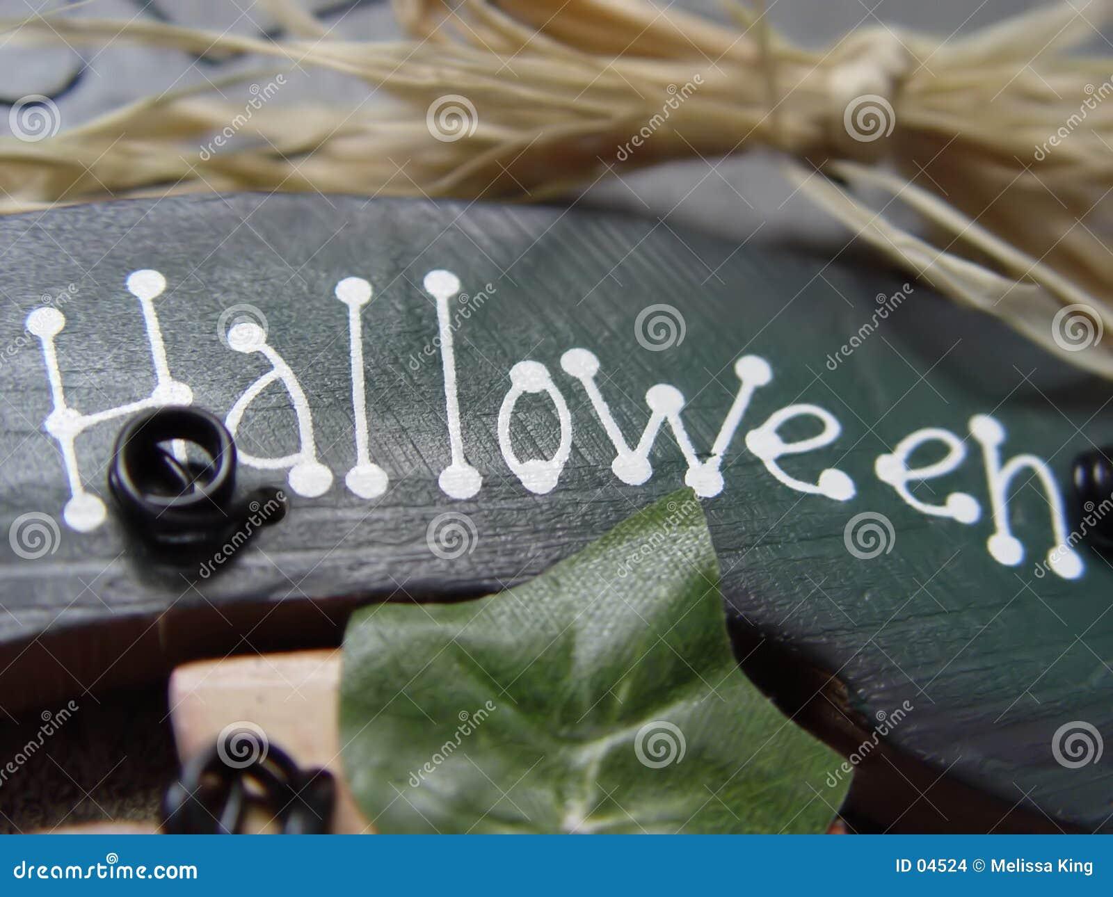 Sinal de Halloween