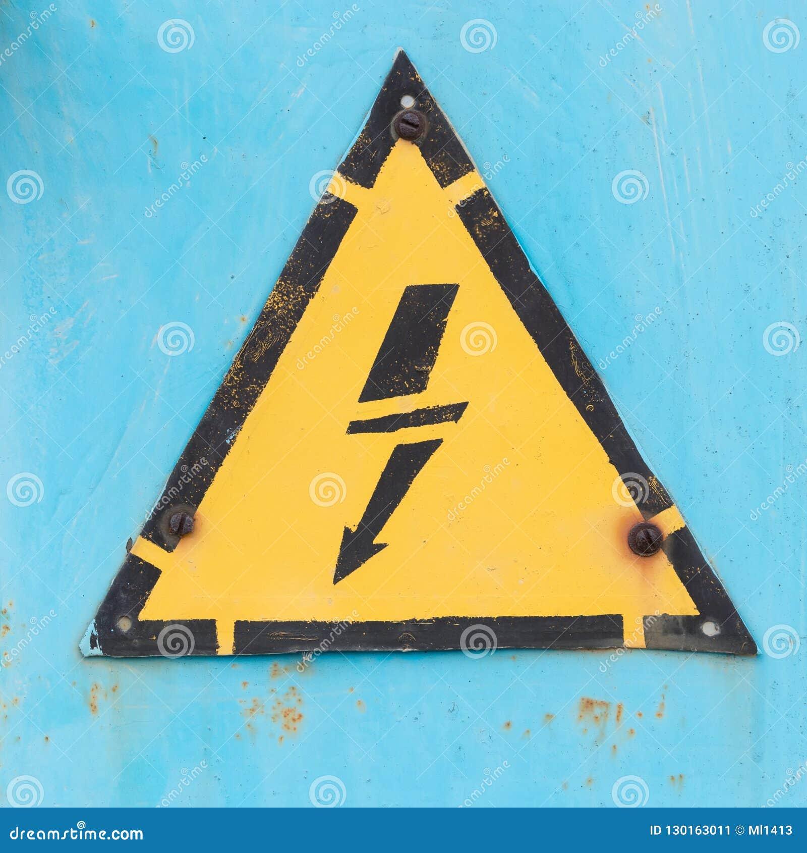Sinal de perigo elétrico
