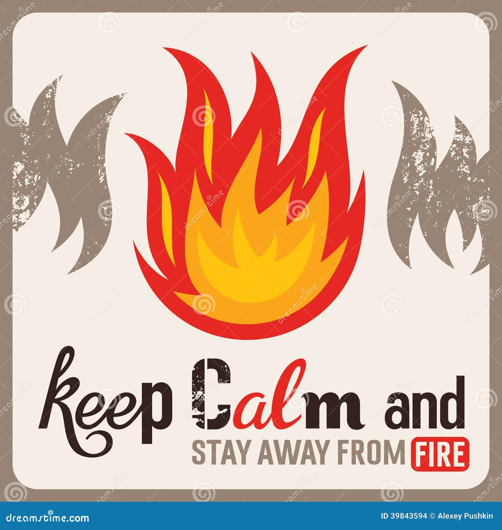 Sinal de proteção contra incêndios