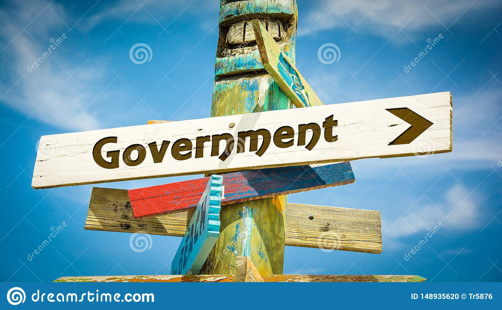 Sinal de rua ao governo