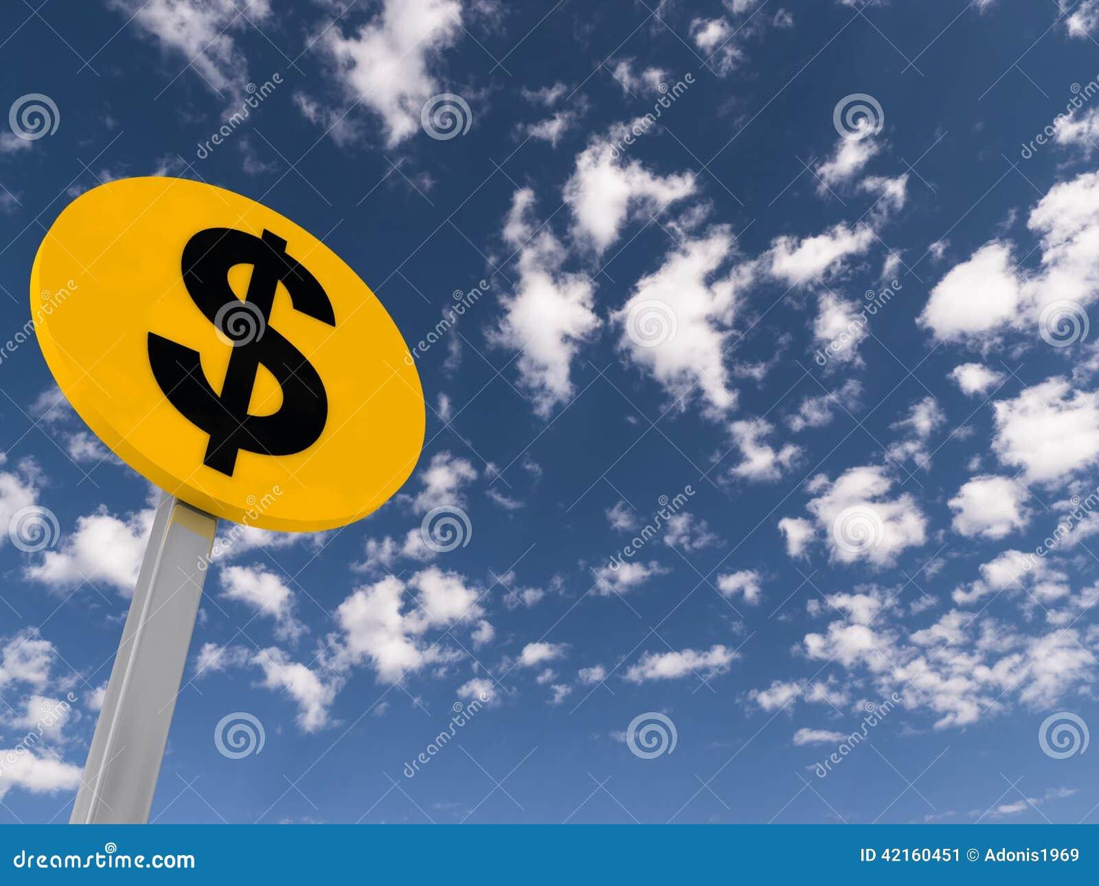 Sinal de tráfego do dólar