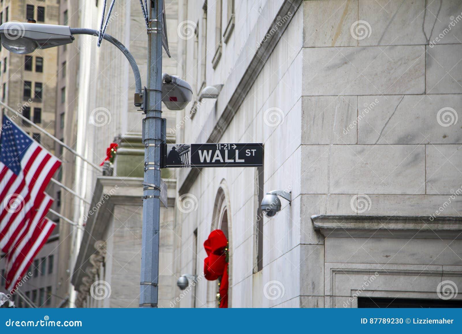 Sinal de Wall Street