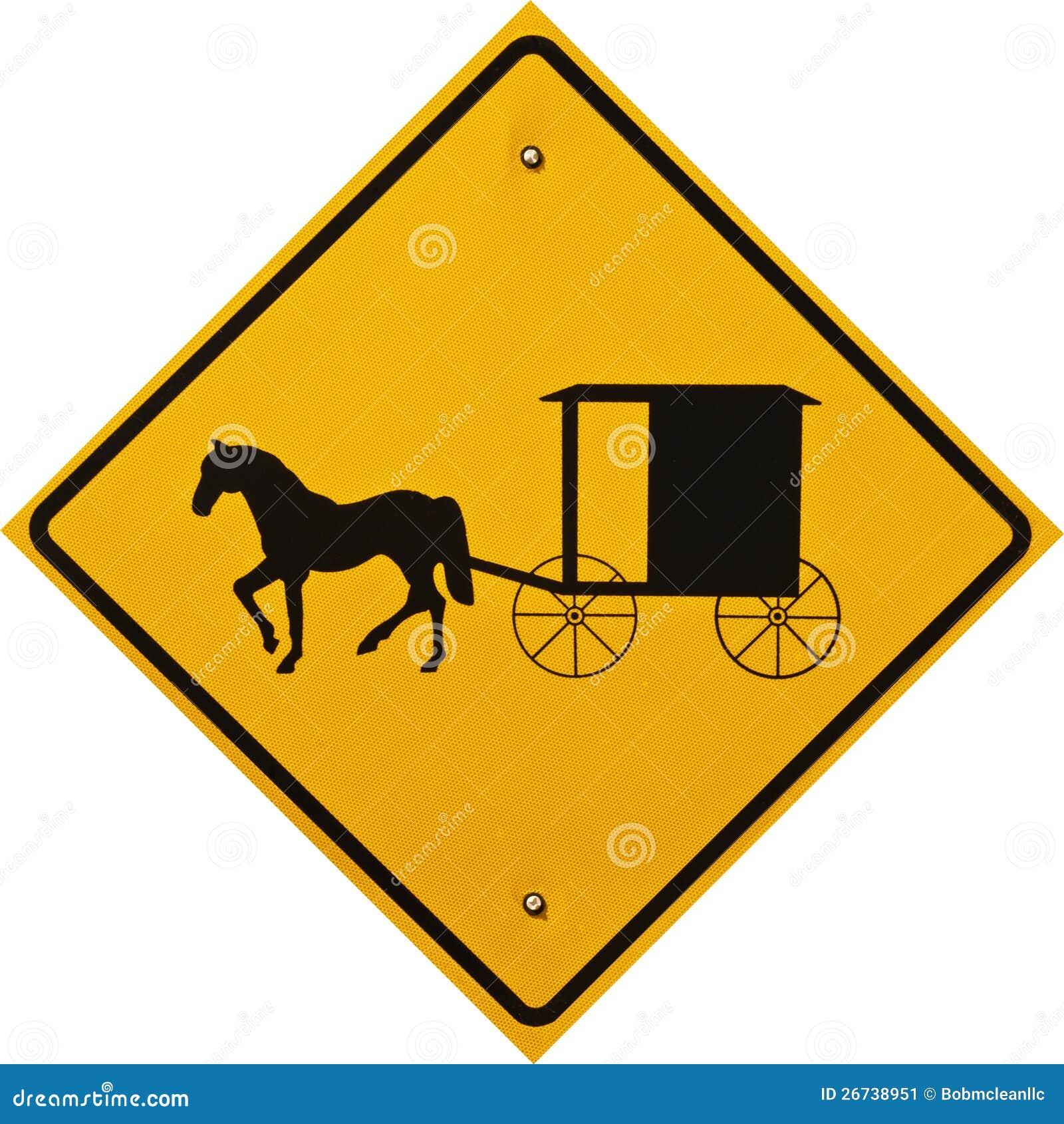 Sinal do carro e do Buggy de Amish