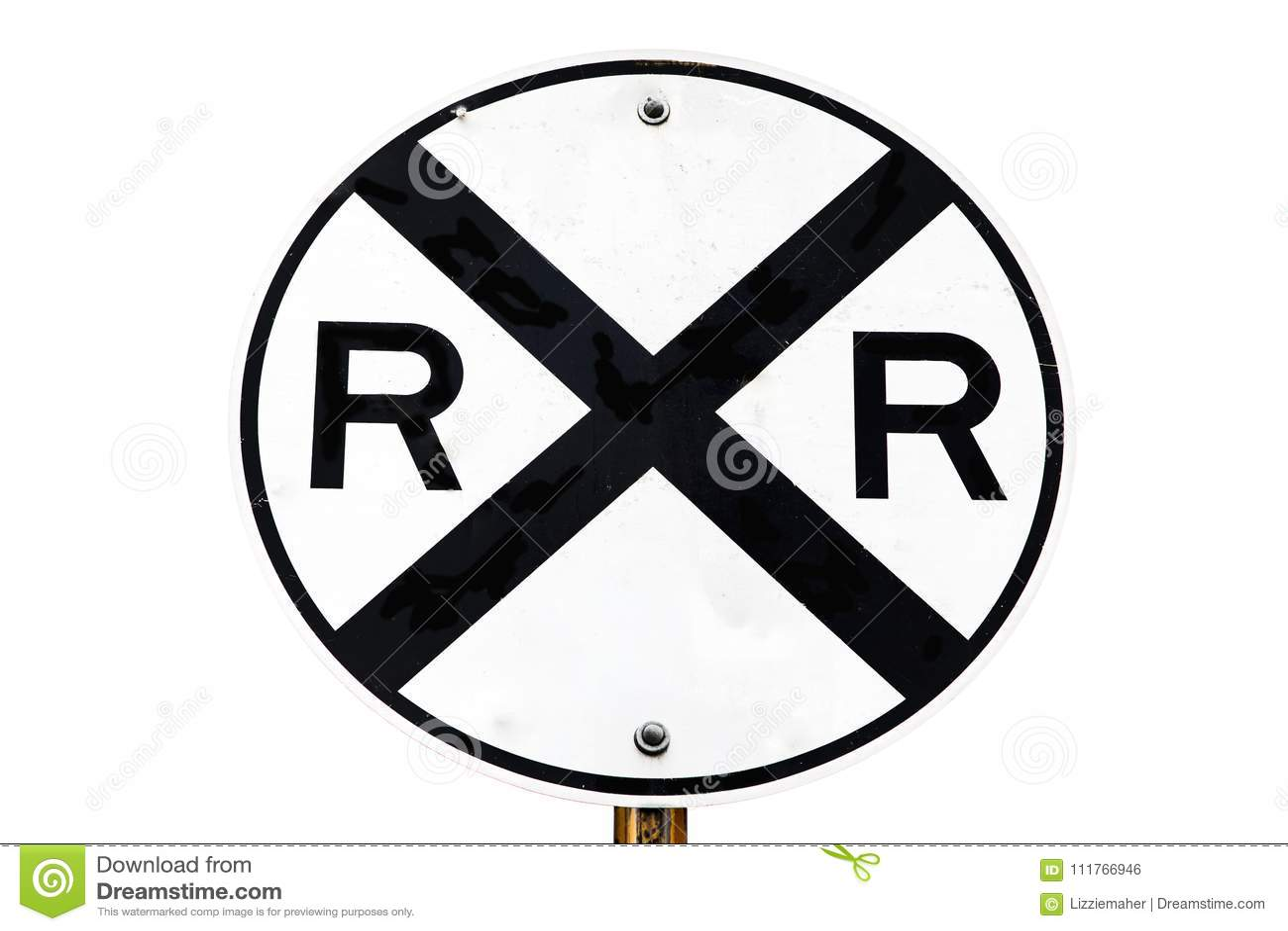 Sinal do cruzamento de estrada de ferro