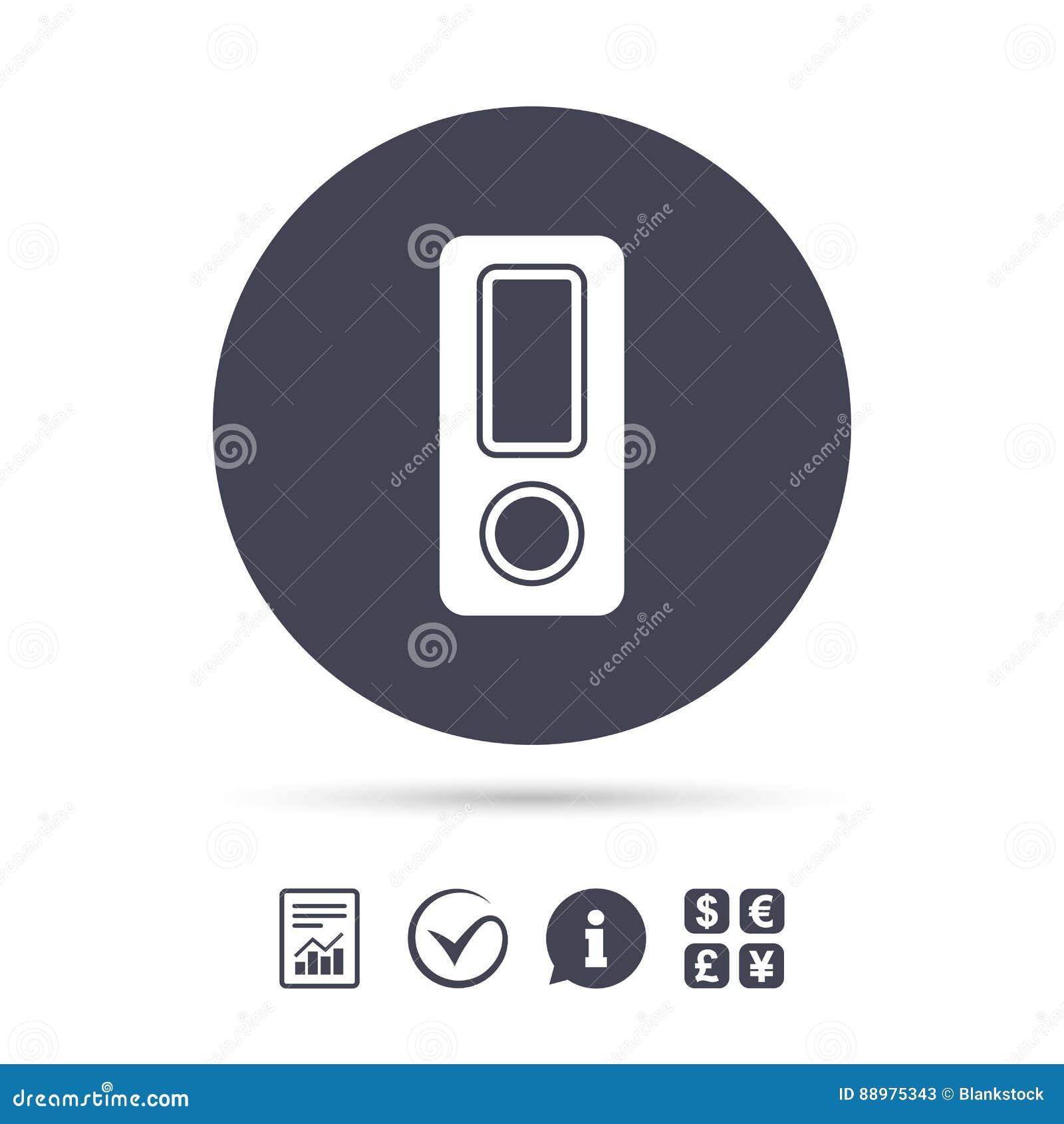 Sinal do dobrador do original Símbolo da pasta da contabilidade