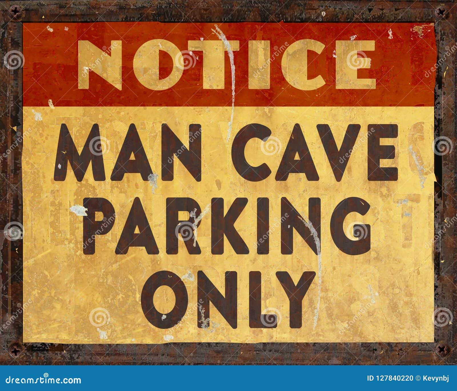 Sinal do estacionamento da caverna do homem