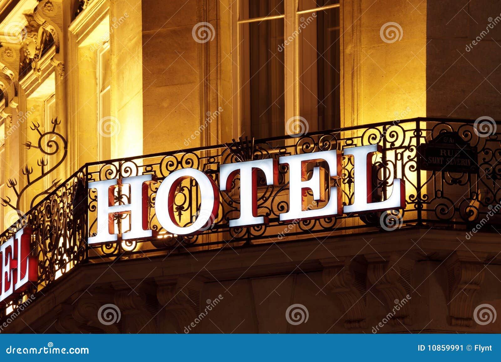 Sinal do hotel