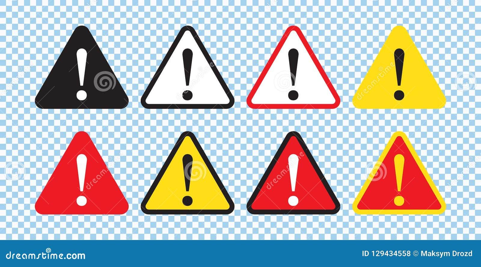 Sinal do perigo, sinal de aviso, sinal da atenção Ícone do perigo, ícone de advertência, ícone da atenção