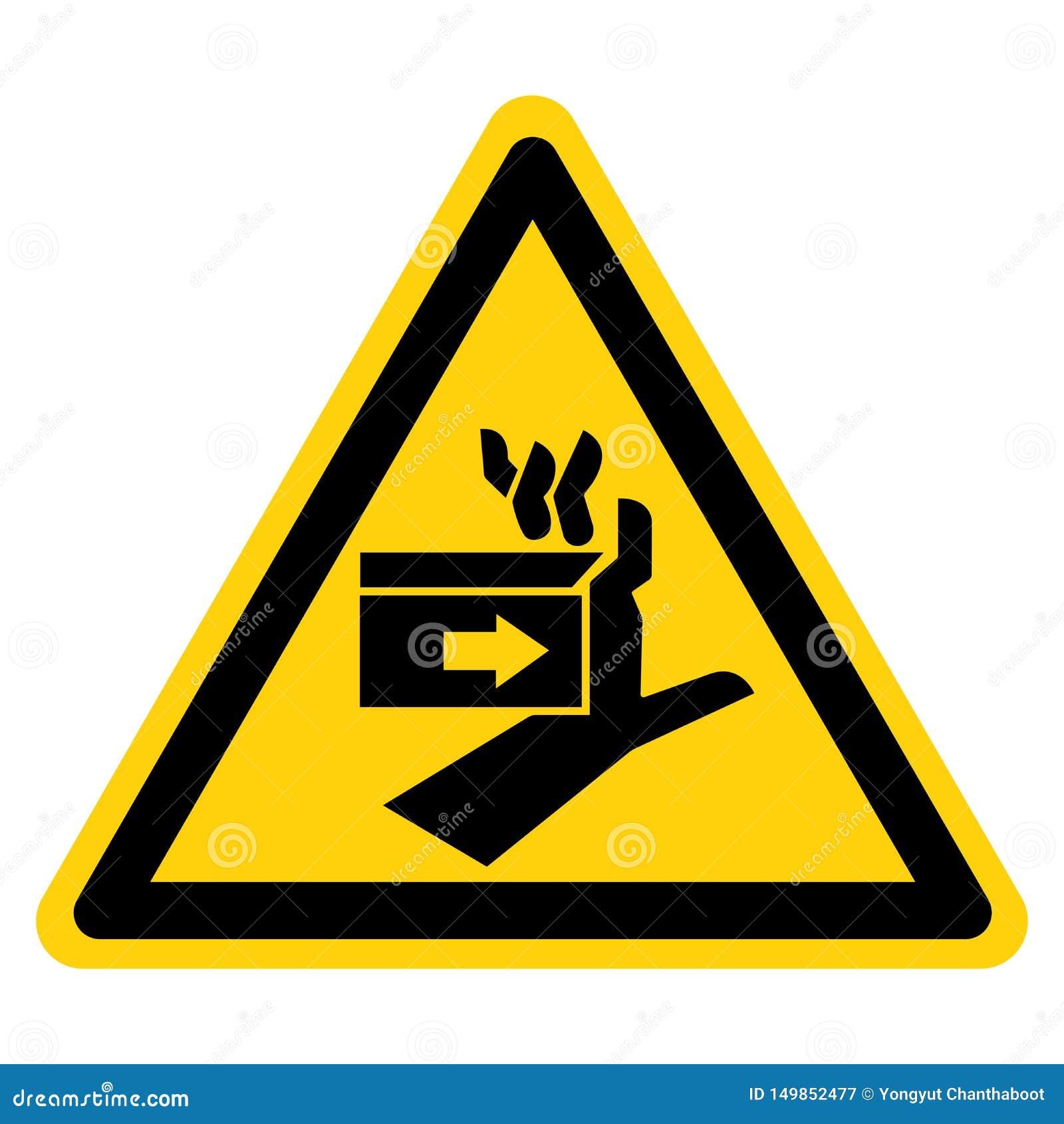 Sinal do símbolo da esquerda da força do esmagamento da mão, ilustração do vetor, isolado na etiqueta branca do fundo EPS10