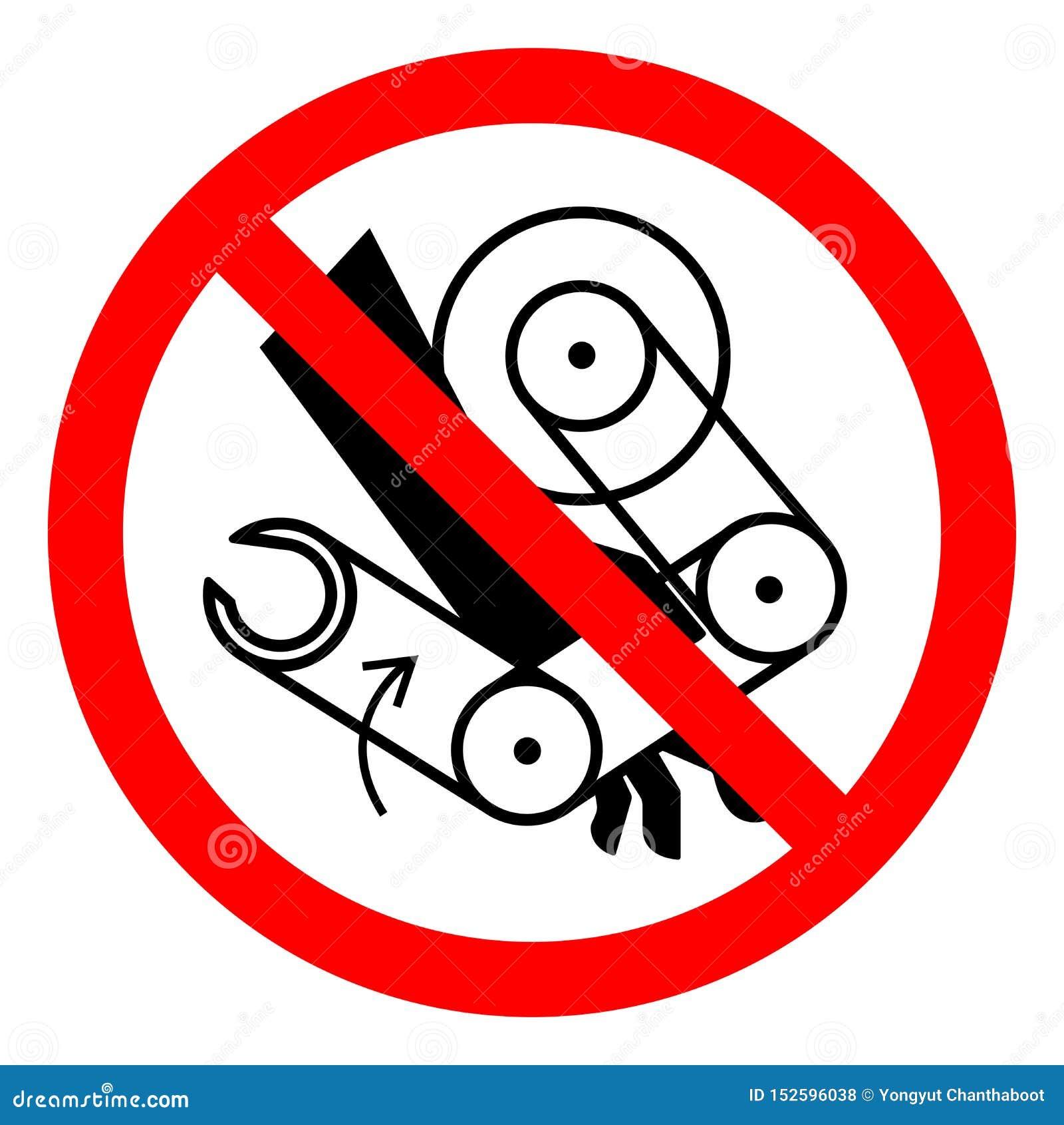 Sinal do símbolo do robô do esmagamento da mão do perigo de ferimento, ilustração do vetor, isolado na etiqueta branca do fundo E