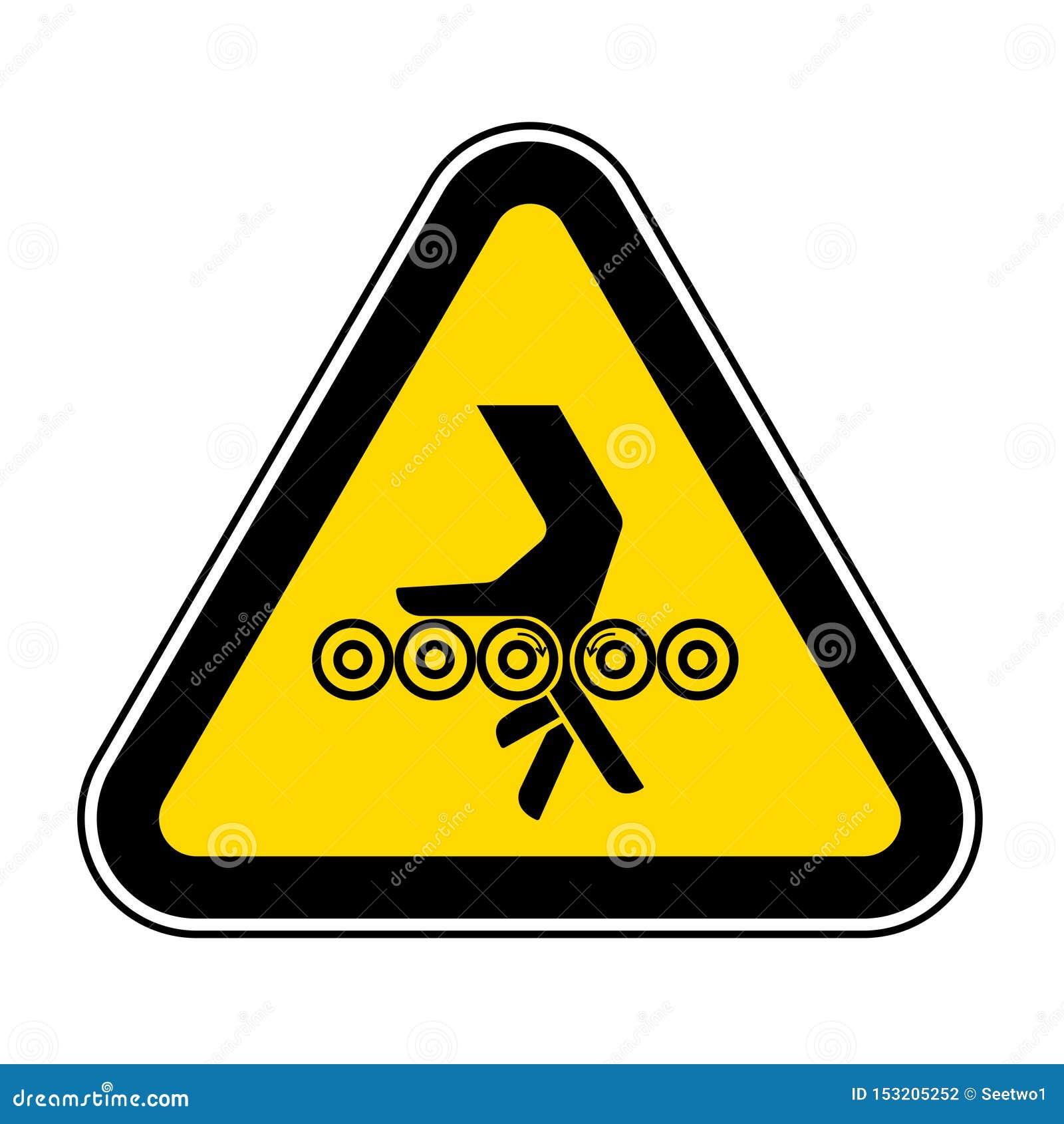 Sinal do s?mbolo dos rolos da complica??o da m?o, ilustra??o do vetor, isolado na etiqueta branca do fundo EPS10