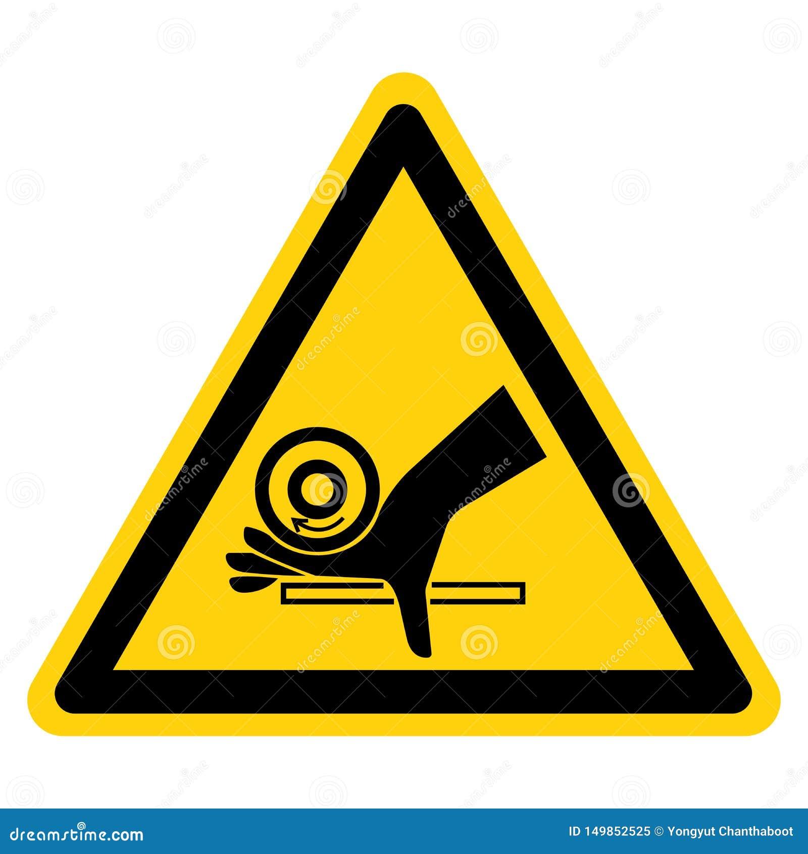 Sinal do s?mbolo do ponto de pitada do rolo do esmagamento da m?o, ilustra??o do vetor, isolado na etiqueta branca do fundo EPS10