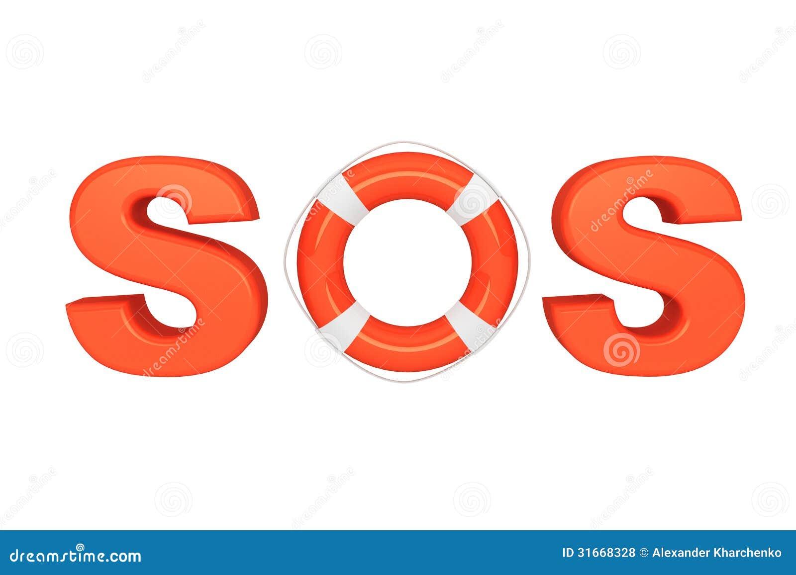 Sinal Do SOS Com Boia Salva vidas Fotos de Stock Royalty Free Imagem  #C92D02 1300 957