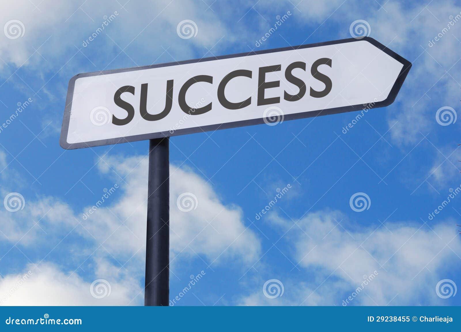 Download Sinal do sucesso imagem de stock. Imagem de objetivo - 29238455