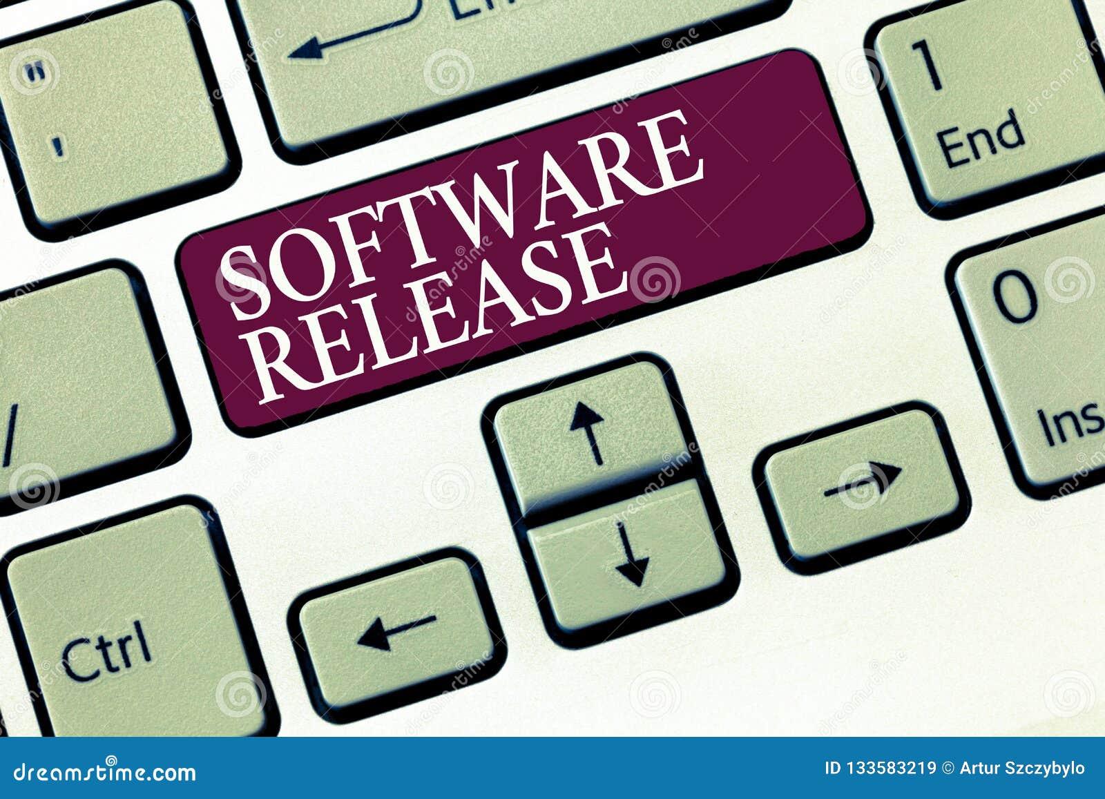 Sinal do texto que mostra a liberação de software Soma conceptual da foto das fases do desenvolvimento e da maturidade para o pro