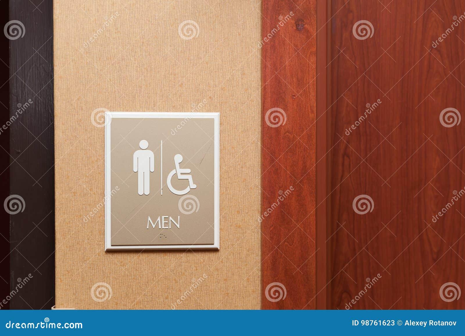 Sinal dos homens do toalete e deficiente