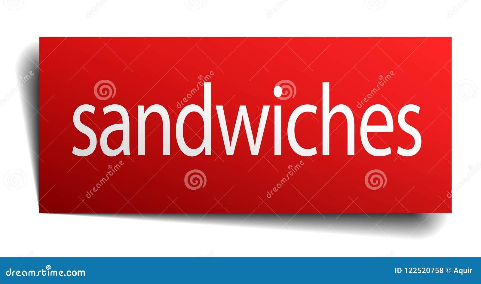 Sinal dos sanduíches