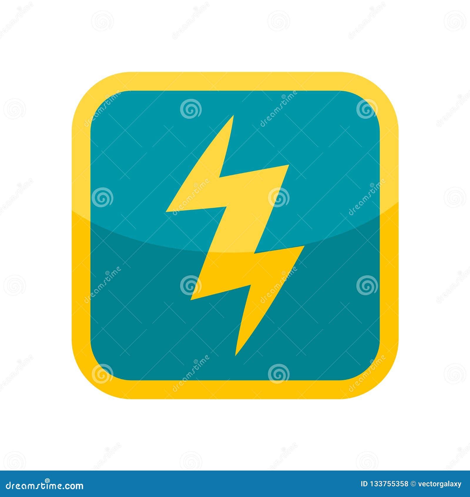 Sinal e símbolo do vetor do ícone da eletricidade isolados no backgr branco