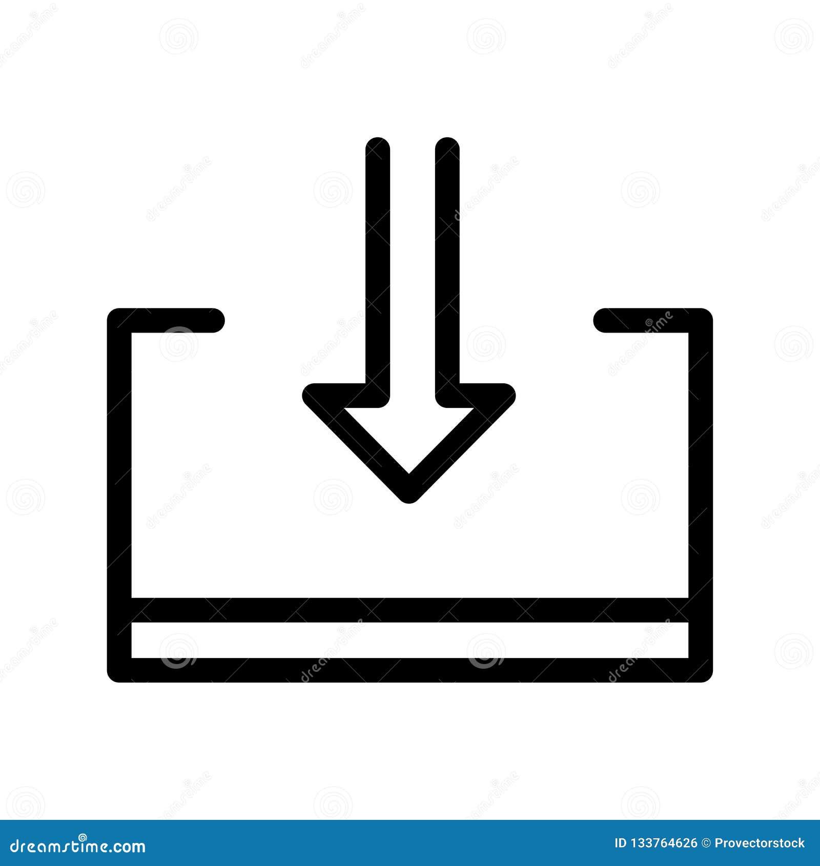 Sinal e símbolo do vetor do ícone da exportação isolados no fundo branco