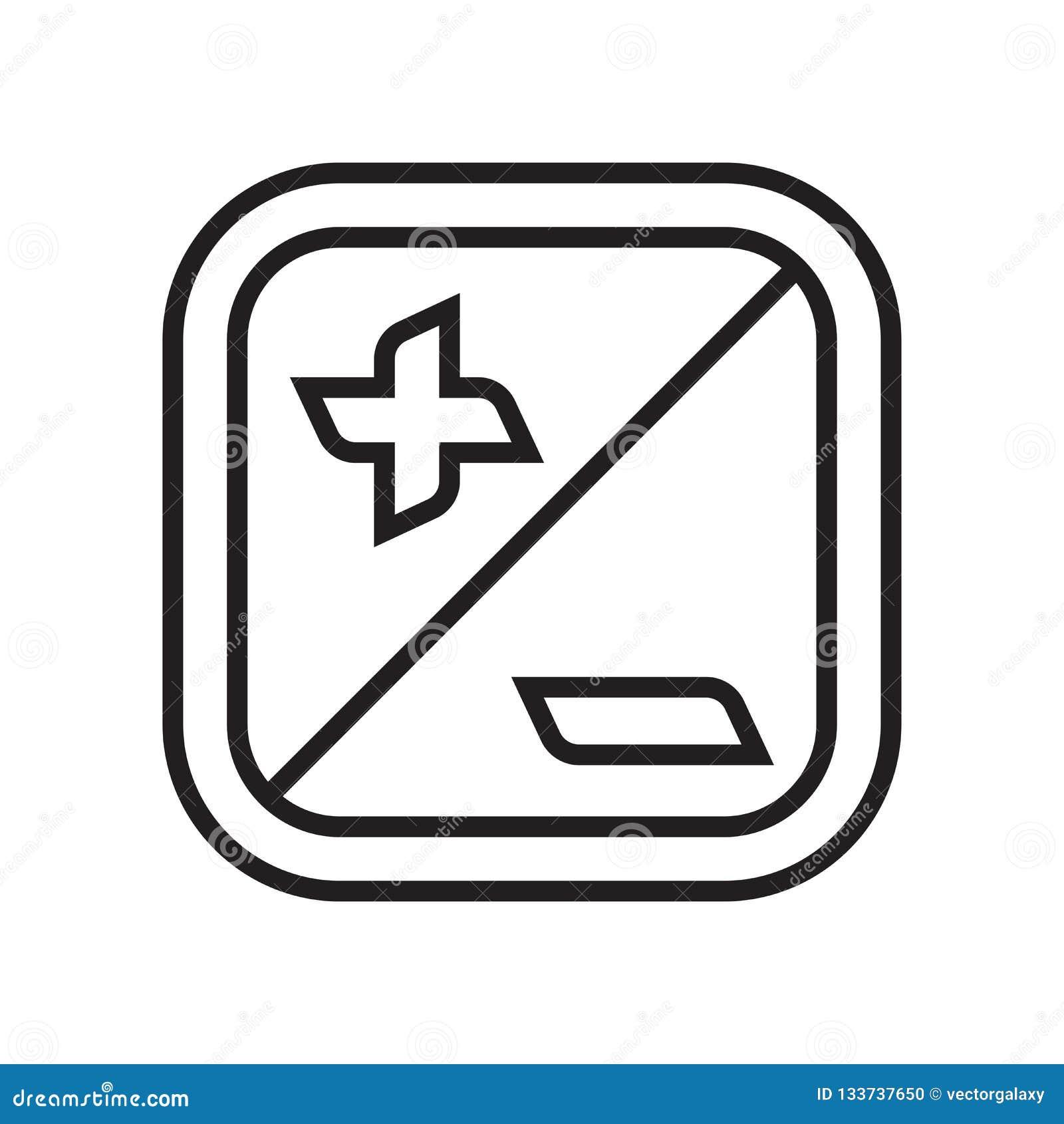 Sinal e símbolo do vetor do ícone da exposição isolados no backgroun branco