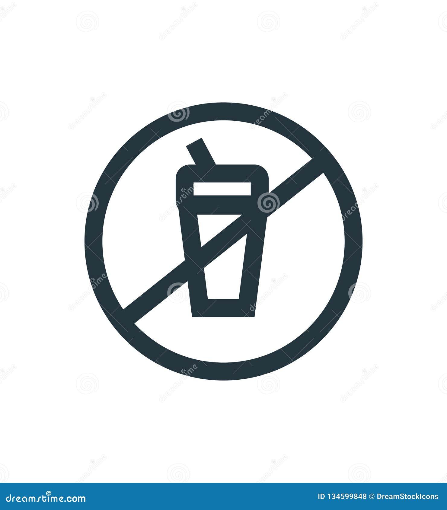 Sinal e símbolo do vetor do ícone da proibição isolados no fundo branco, conceito do logotipo da proibição