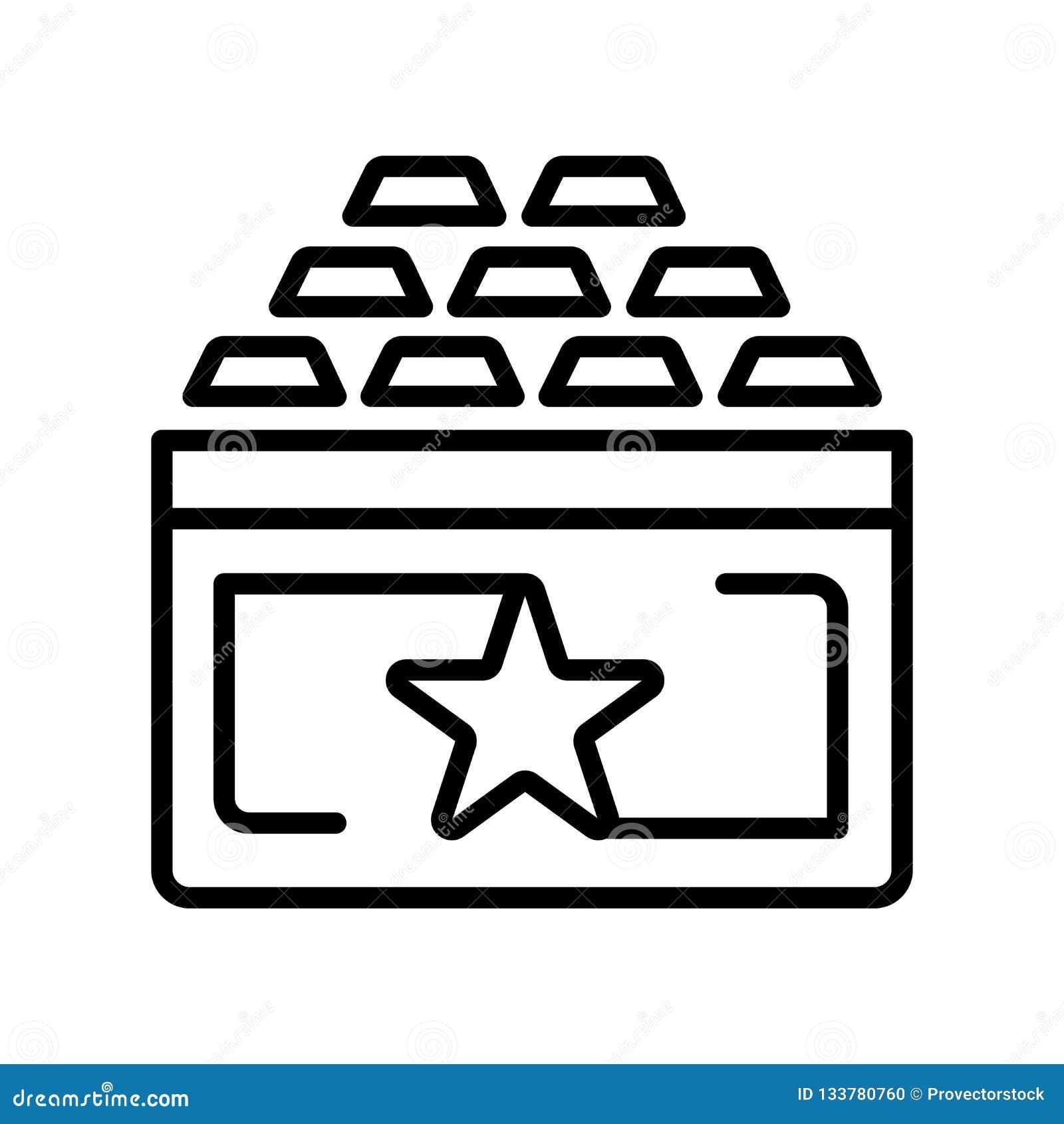 Sinal e símbolo do vetor do ícone da recompensa isolados no fundo branco