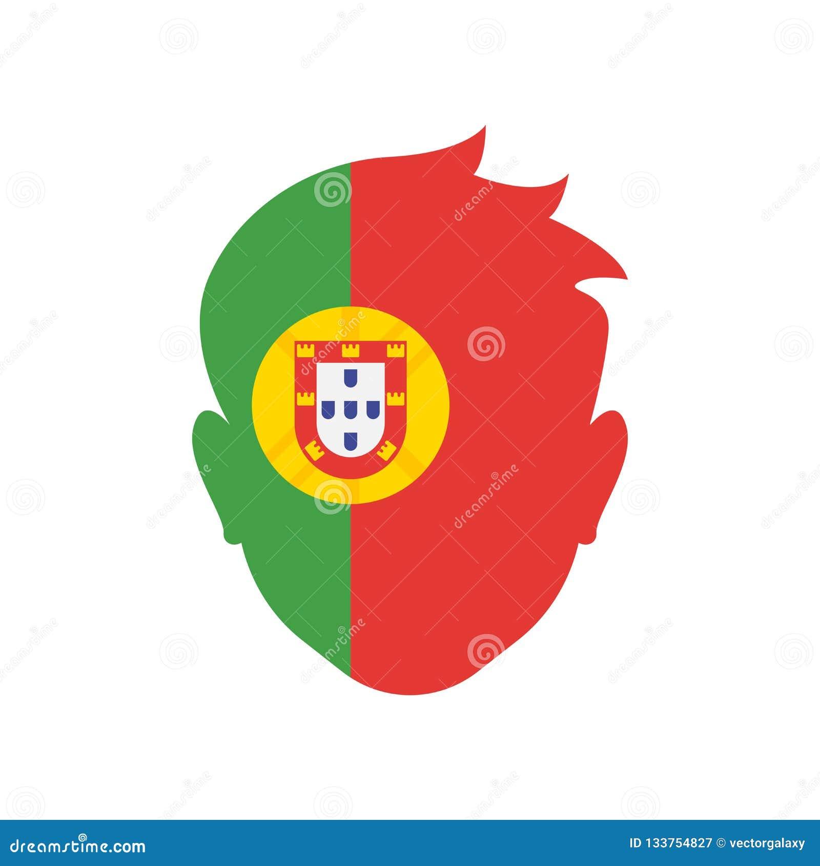 Sinal e símbolo do vetor do ícone de Portugal isolados no backgroun branco