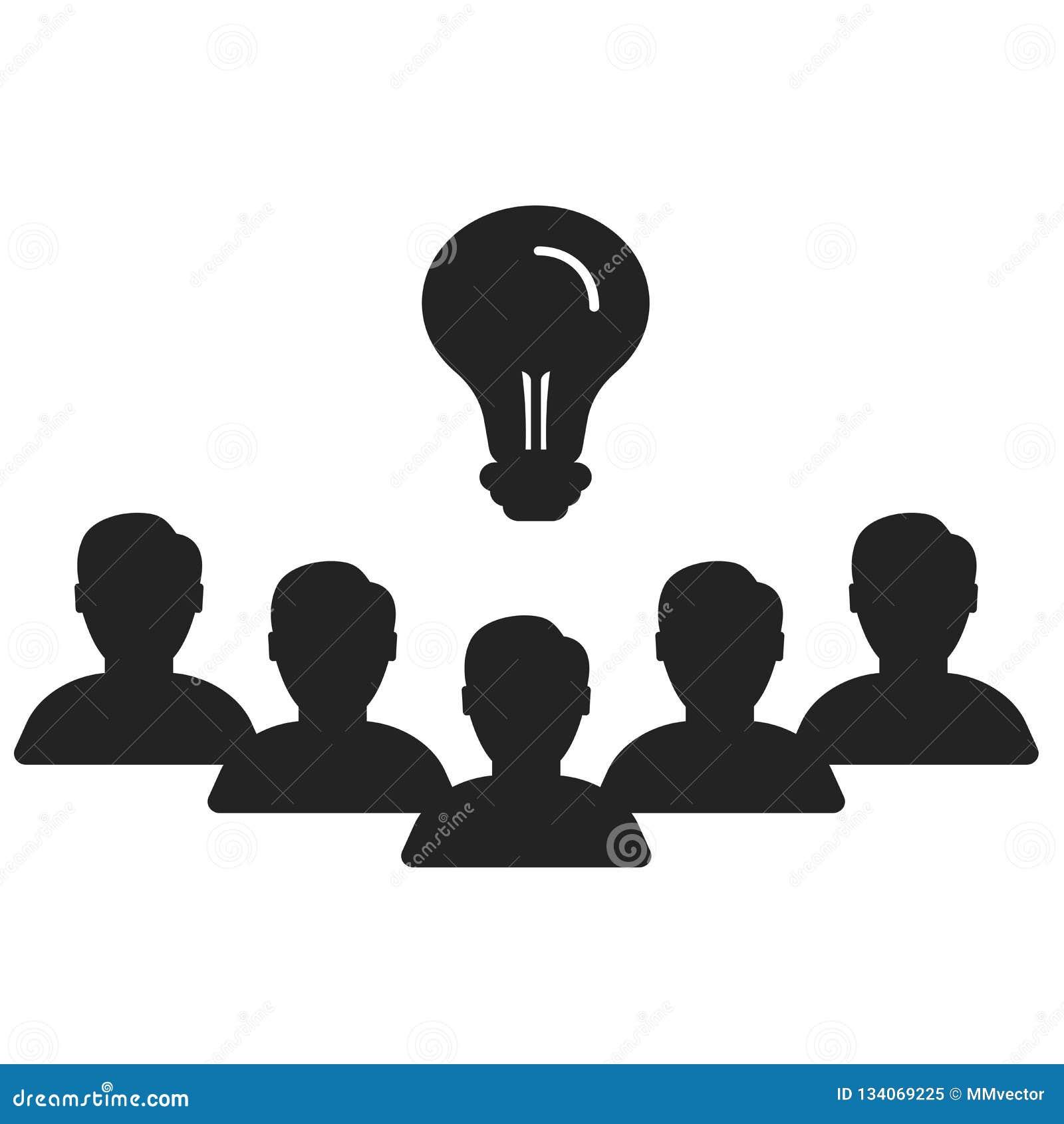 Sinal e símbolo do vetor do ícone dos trabalhos de equipe isolados no fundo branco, conceito do logotipo dos trabalhos de equipe