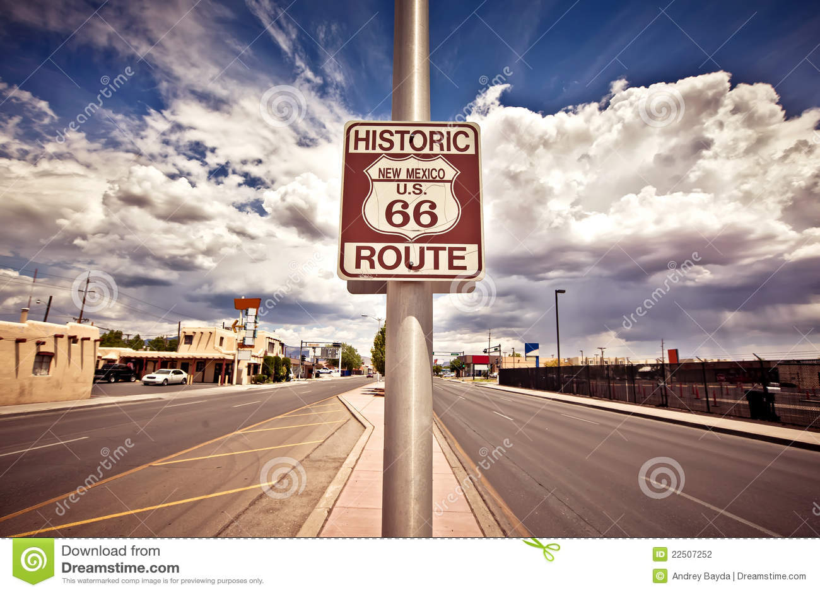 Sinal histórico da rota da rota 66