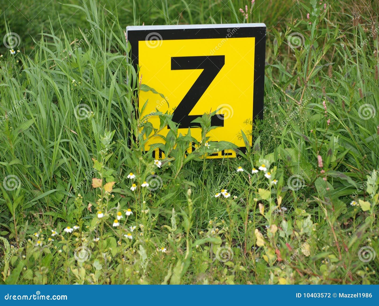 Sinal holandês Z do cabo