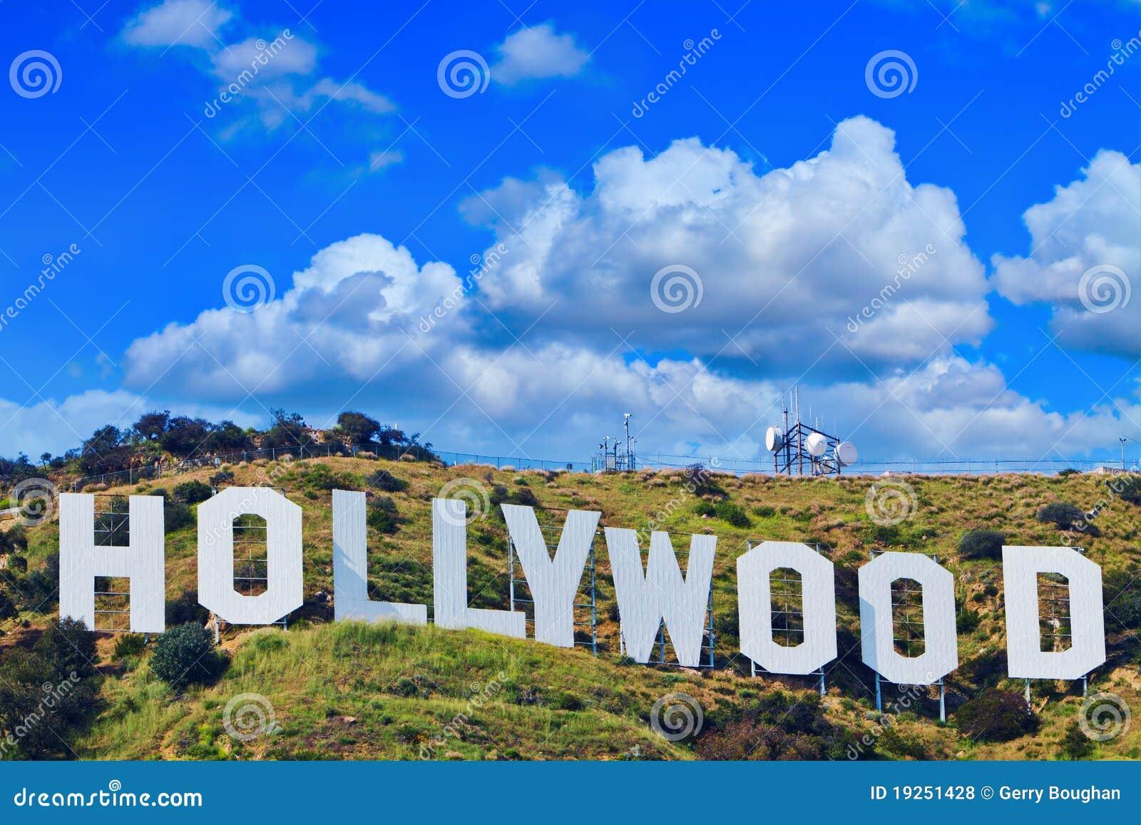 Sinal icónico de Hollywood de Los Angeles, Califórnia