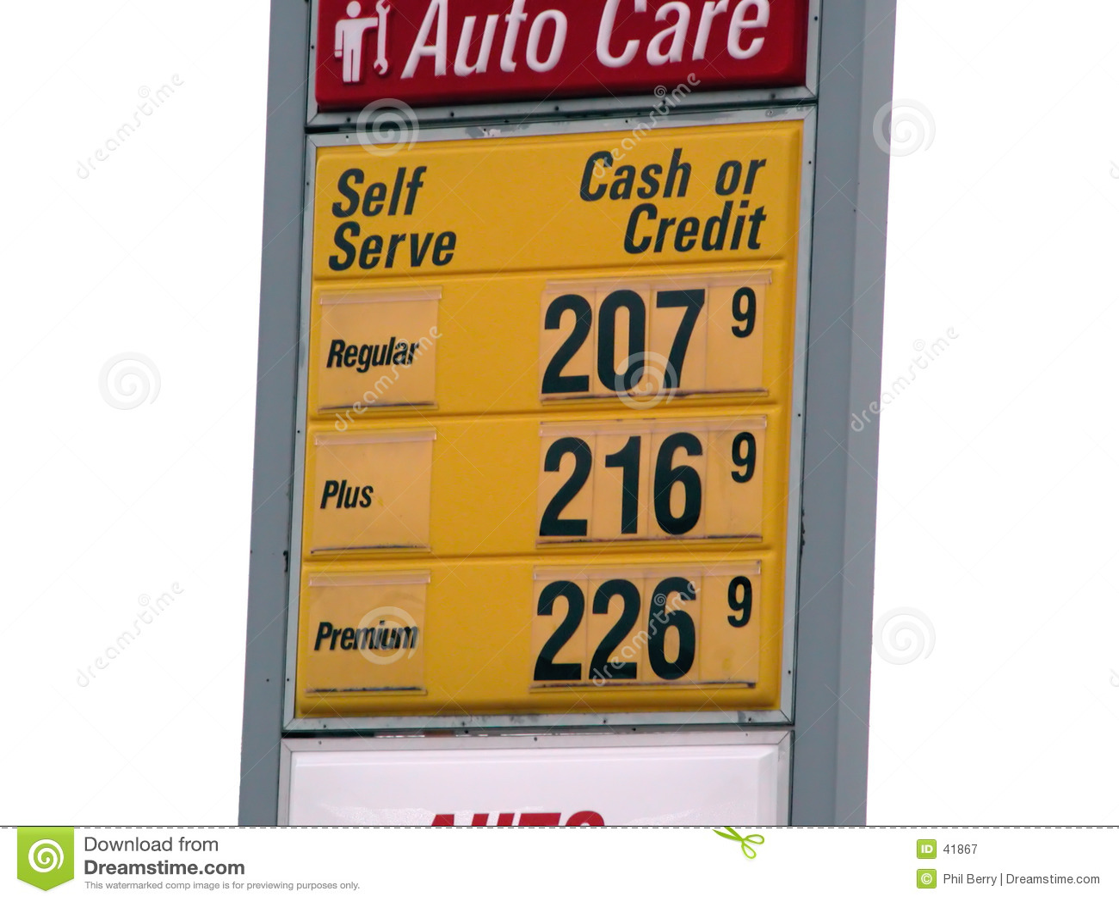 Sinal isolado do preço de gás