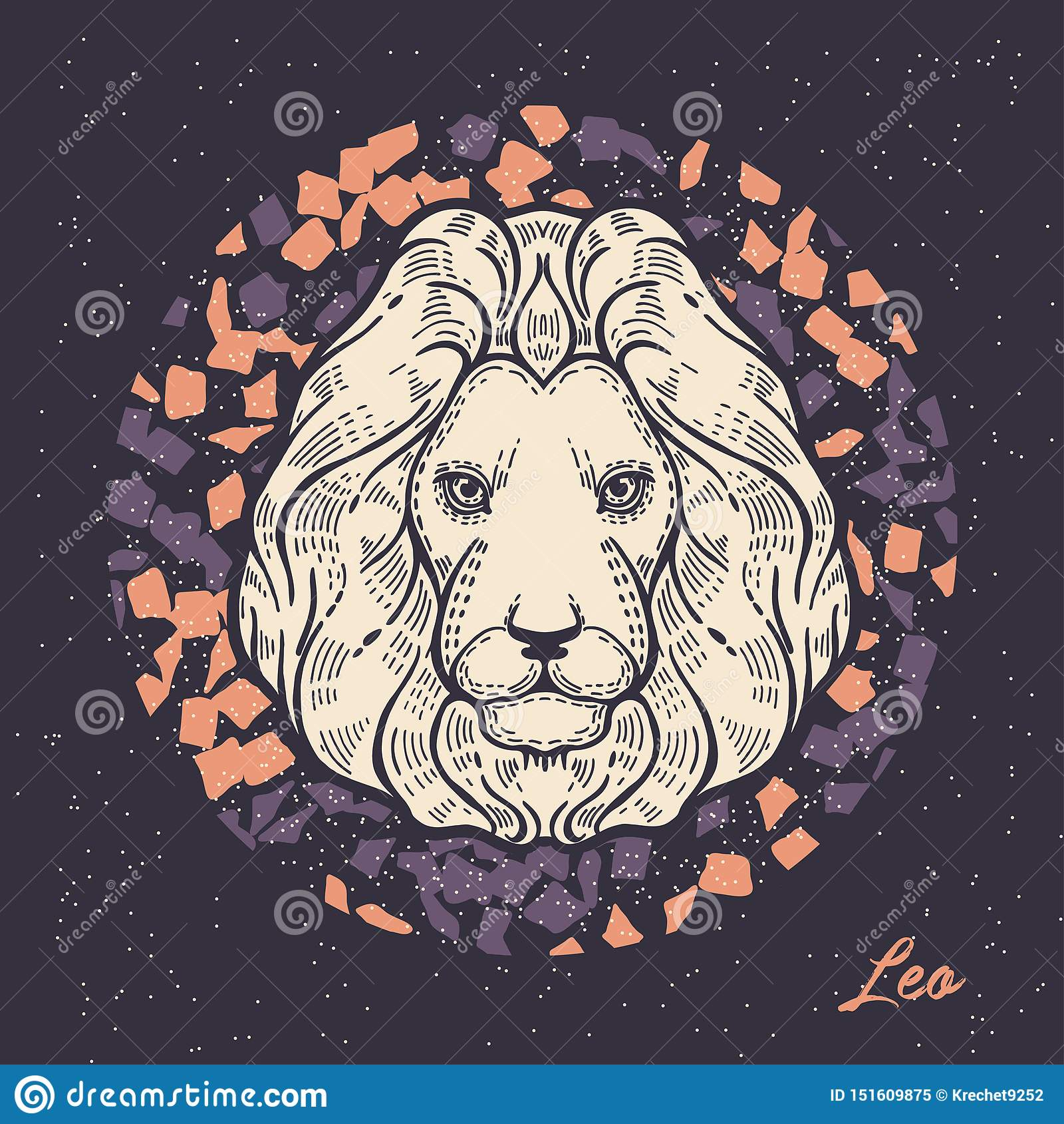Sinal leo do zod?aco O símbolo do horóscopo astrológico