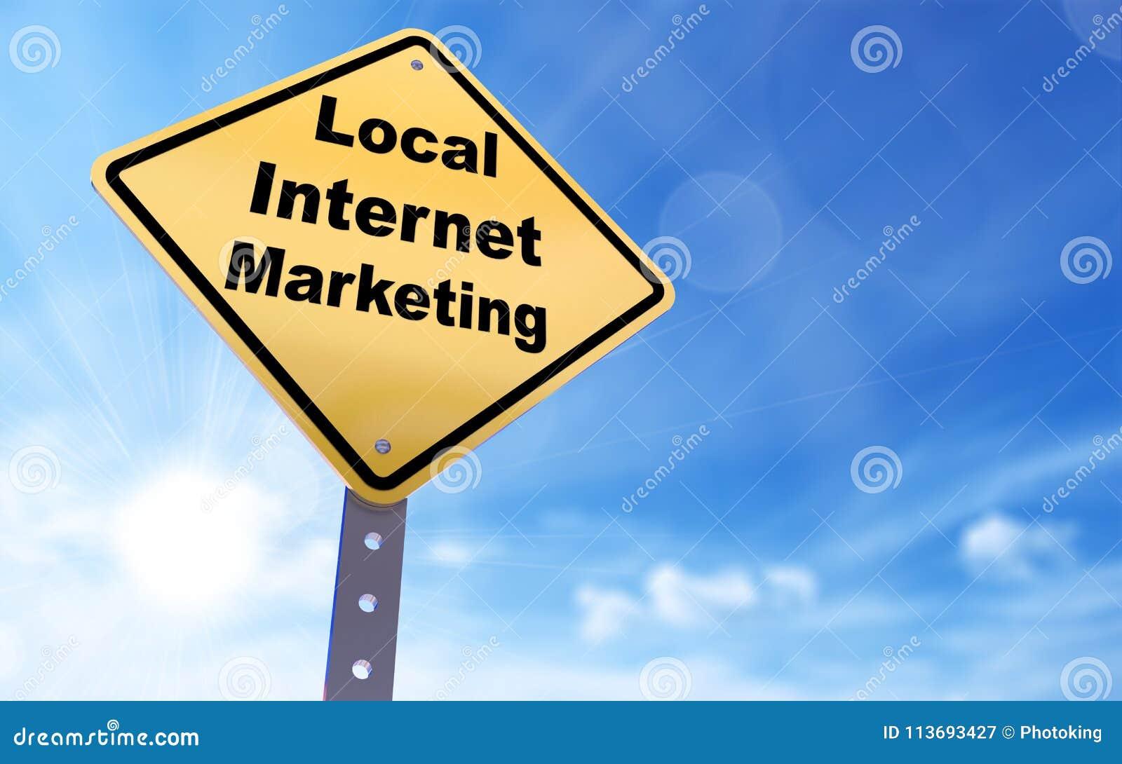 Sinal local do mercado do Internet
