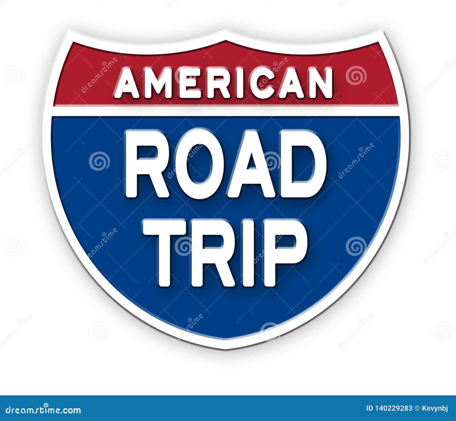 Sinal Logo Art de América da viagem por estrada