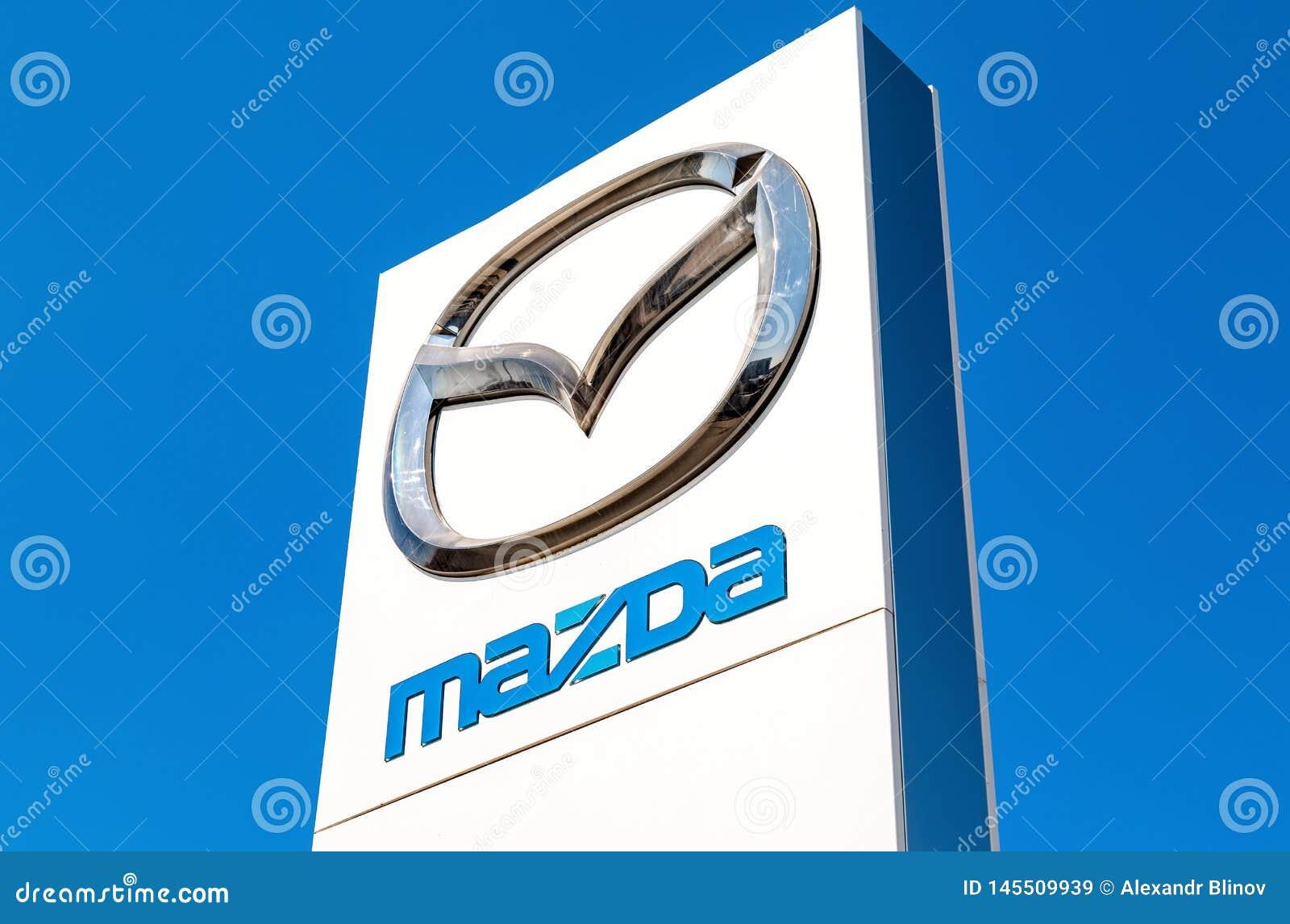 Sinal oficial Mazda do negócio