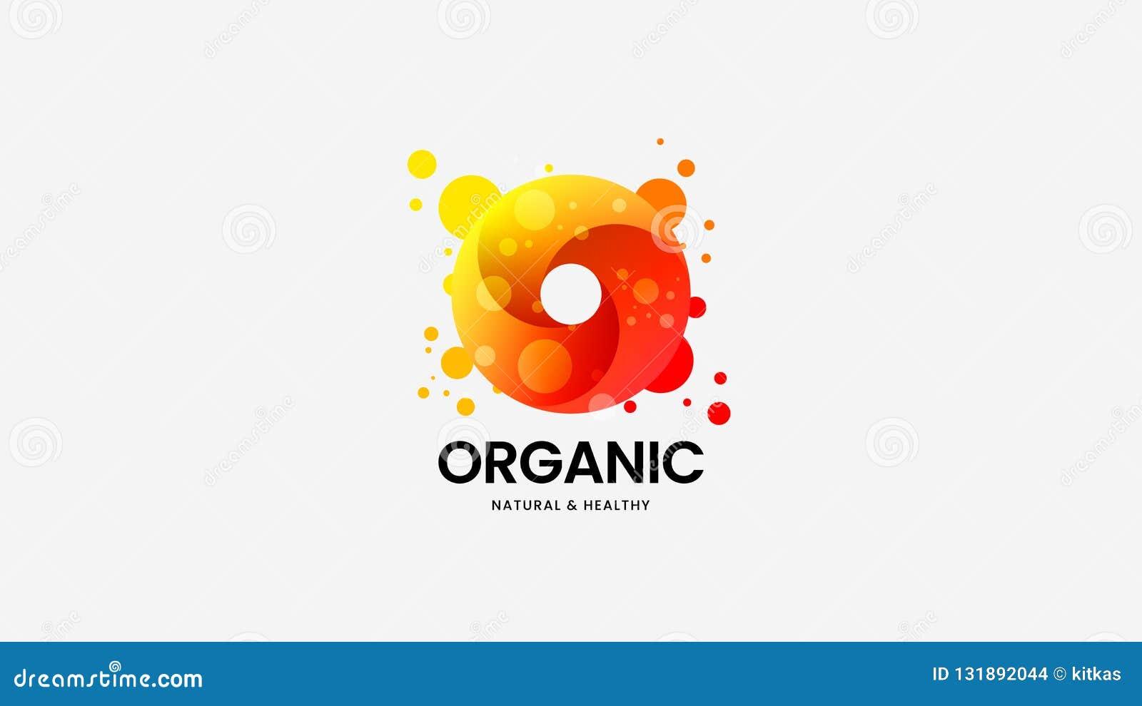 Sinal orgânico do logotipo do vetor do anel para a identidade corporativa Ilustração do emblema do Logotype Disposição de projeto