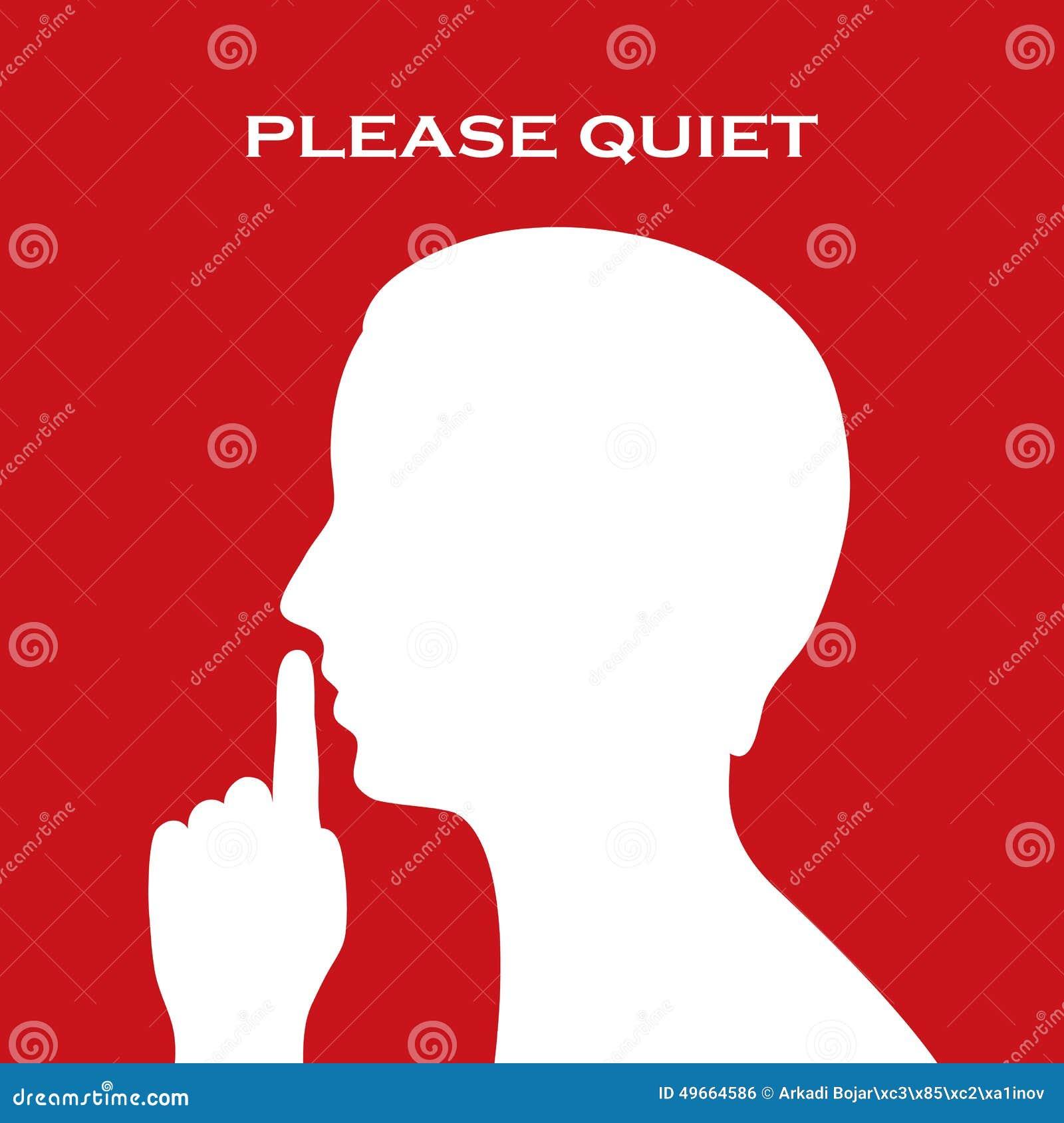 Sinal por favor quieto
